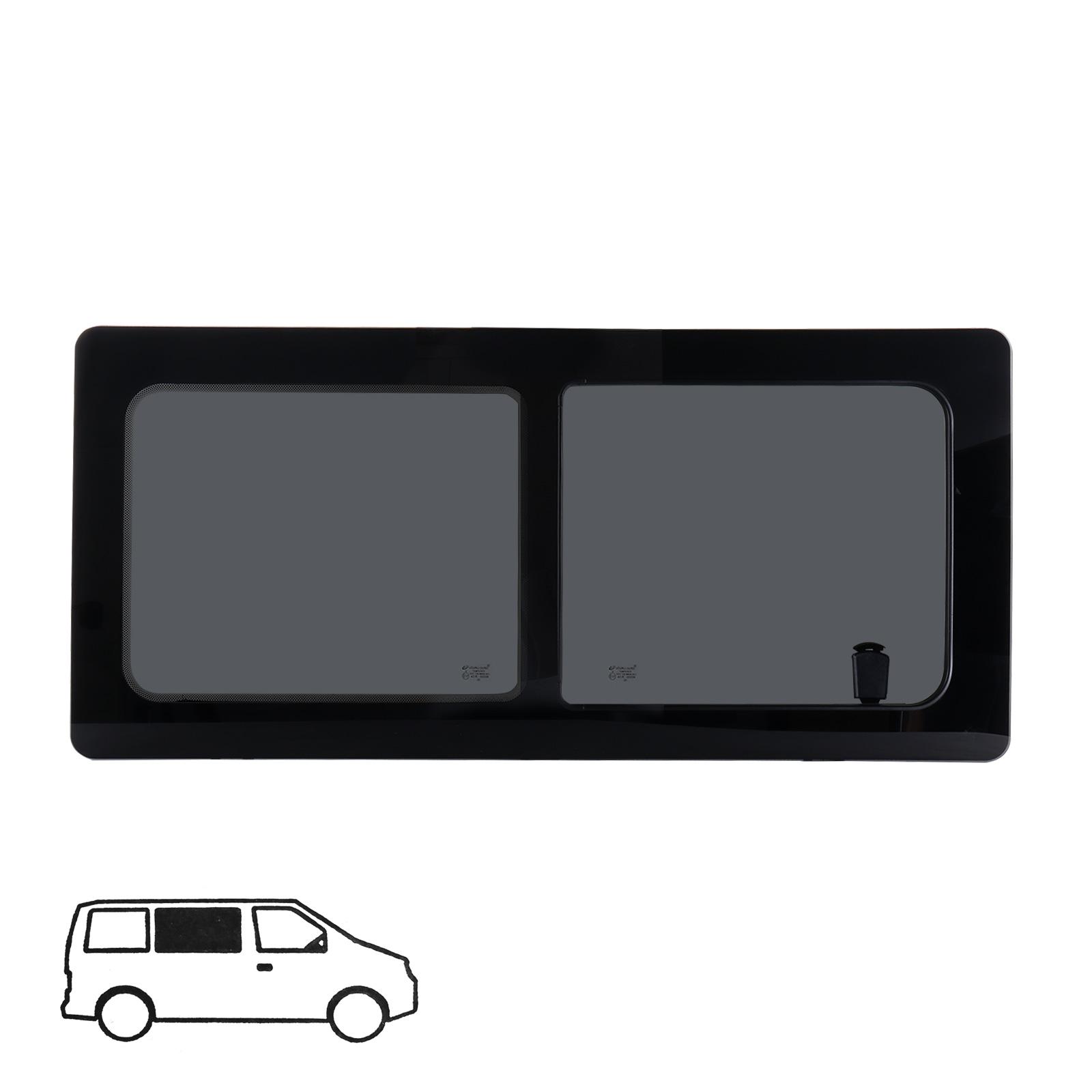 Schiebefenster rechts Glasfenster für VW T4 Echtglas 113 x 53 cm Bj. 90-04
