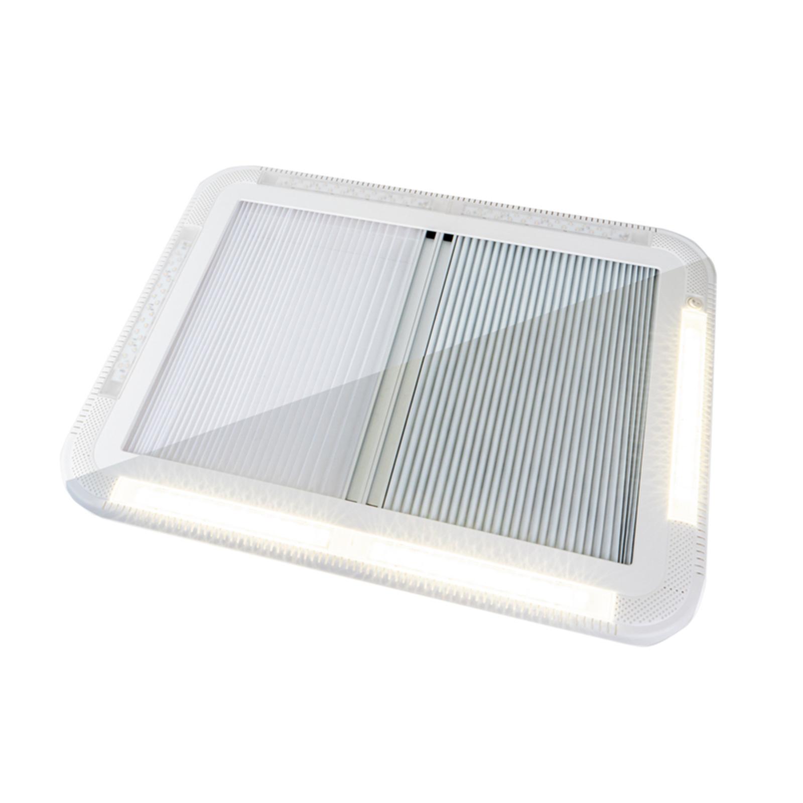 Carbest Dachhaube 70x50 cm mit Zwangsbelüftung + LEDs für Caravan Wohnwagen