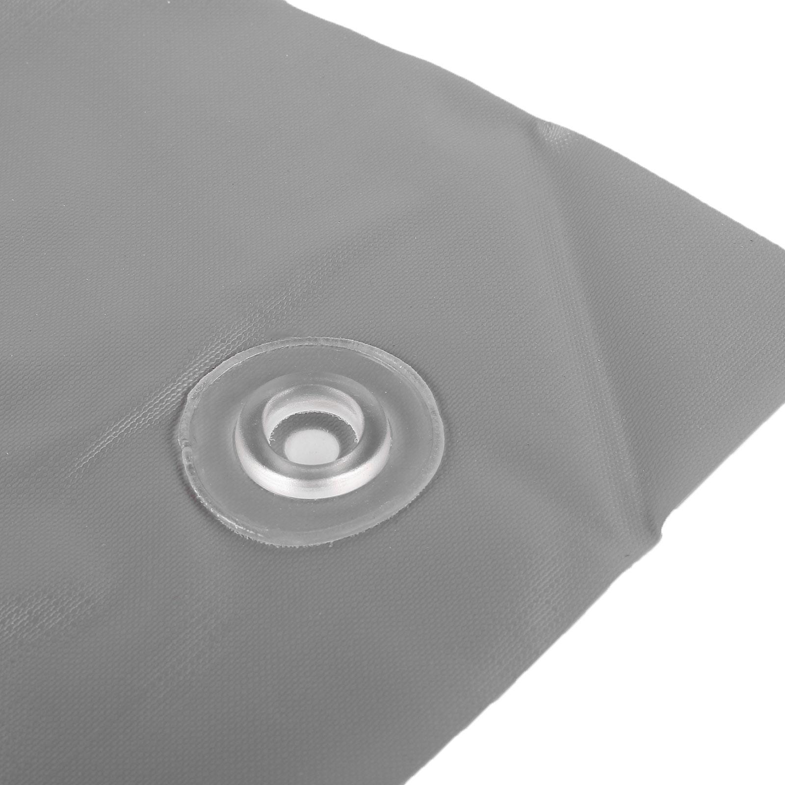 wamovo  Air dam 250 x 600 grau Ränder aufblasbar PVC (400 g/qm)