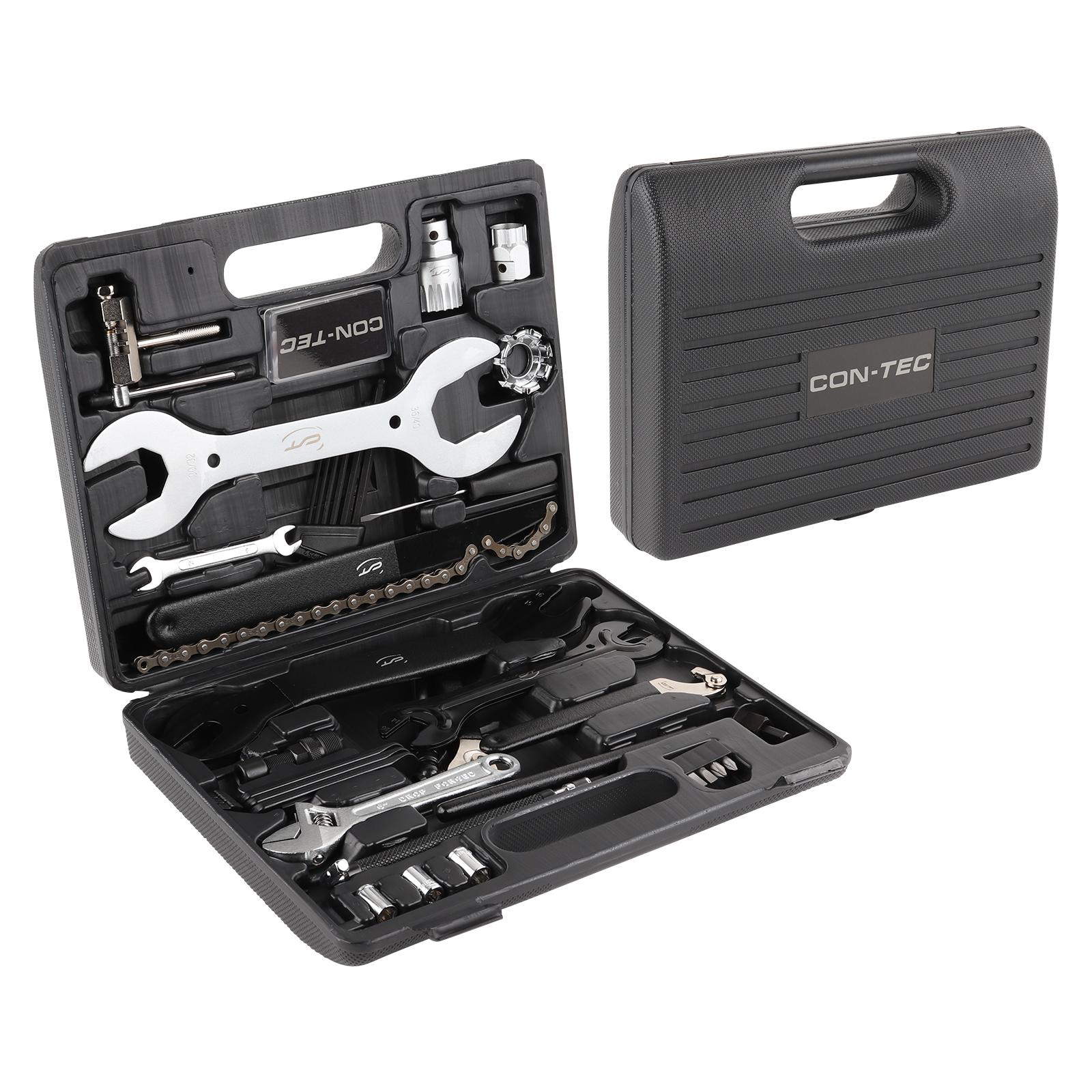 CONTEC Fahrrad Werkzeugkoffer 36-teilig, ca. 3 kg, schwarz