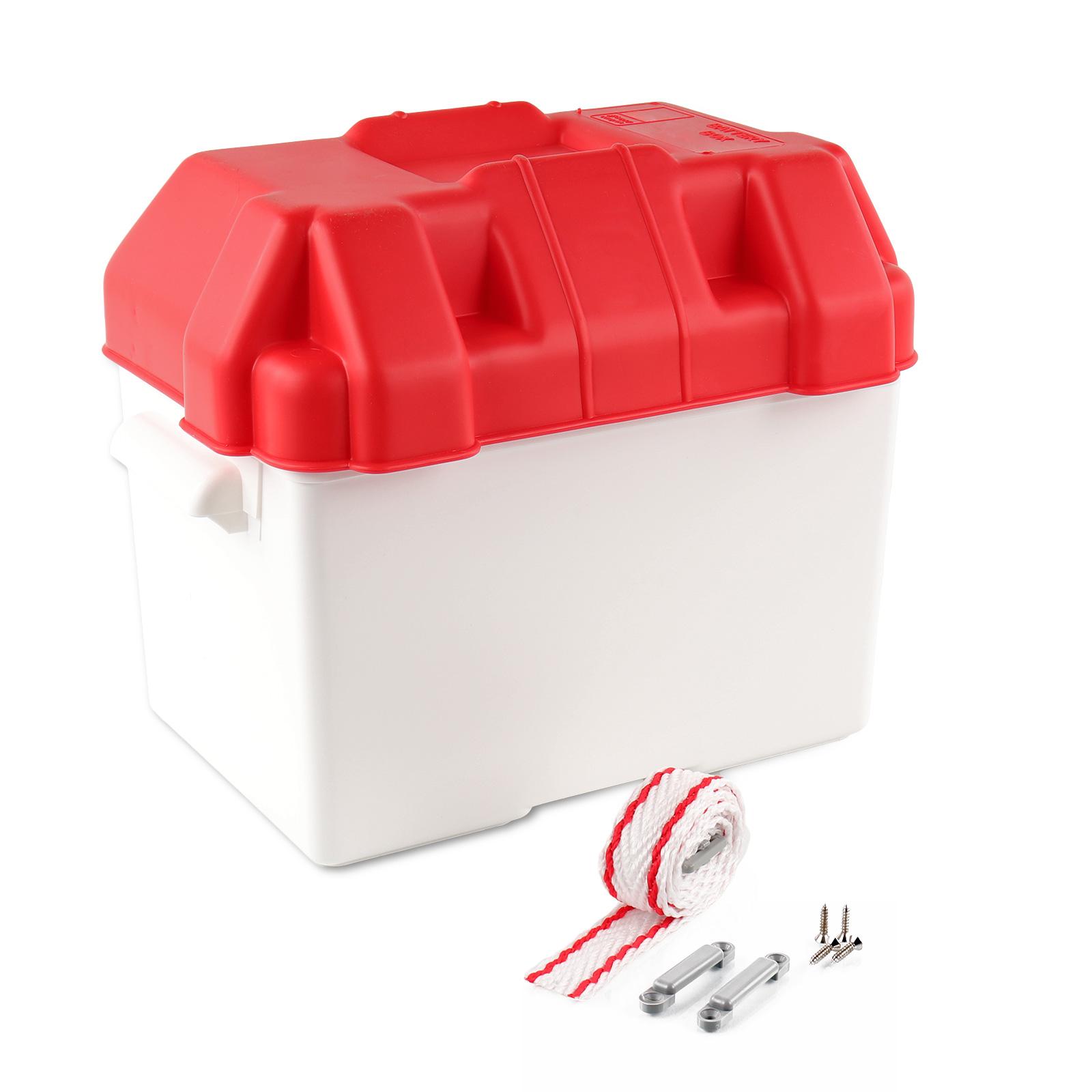Batteriekasten Batteriebox 312x270x225mm Kunststoff inkl. Halteband