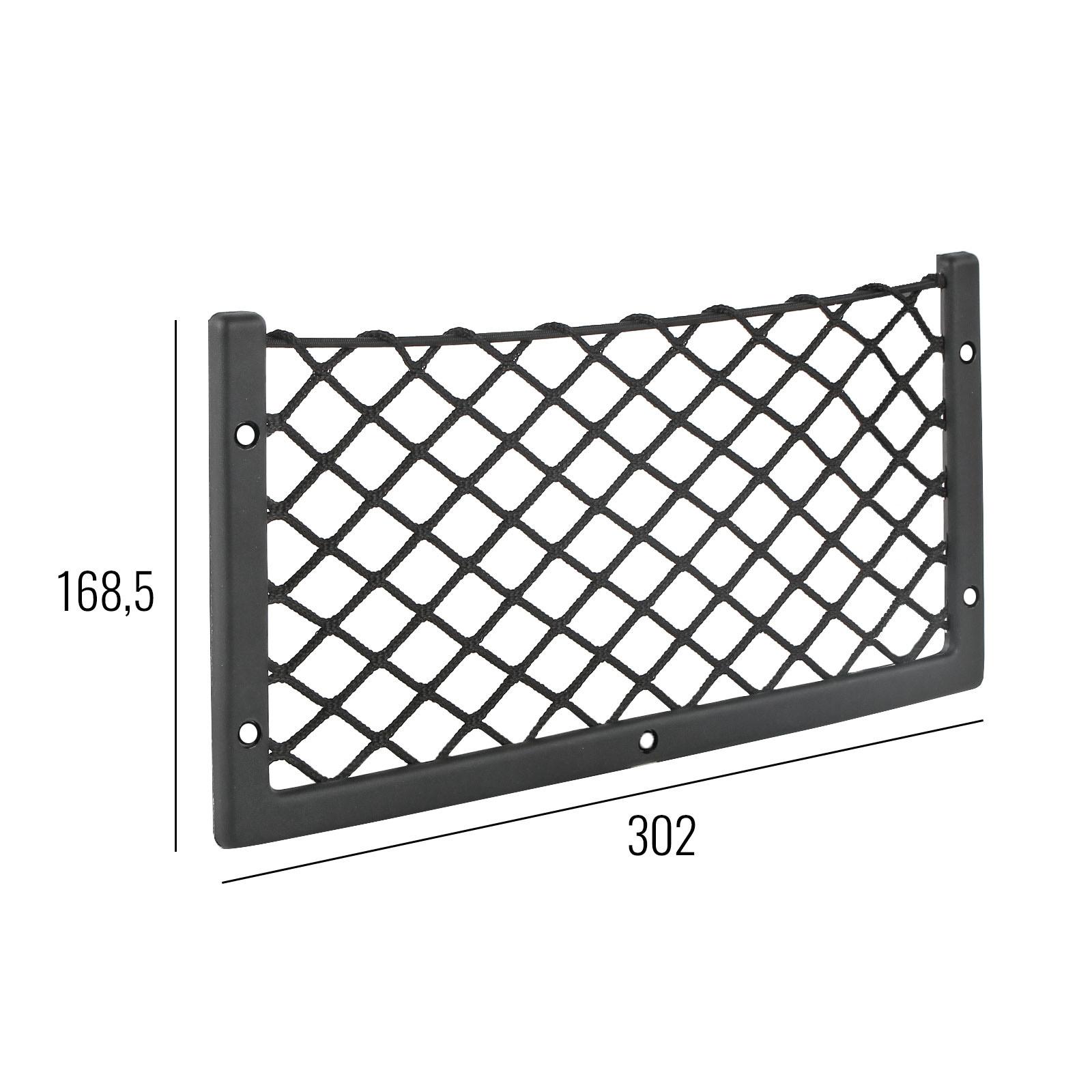 Netzablagefach S 302x169 mm, Nylonnetz mit Gummizug