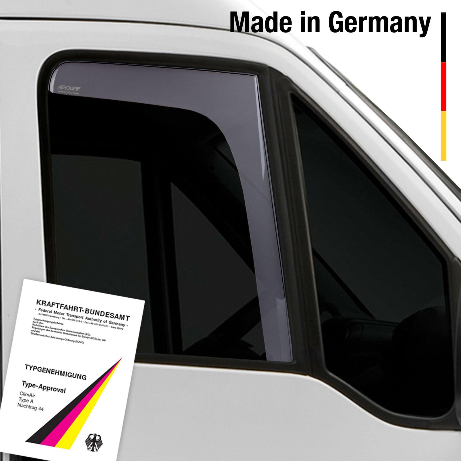 Windabweiser vorne mit ABE rauchgrau VW Bus 2-Türer 79-92