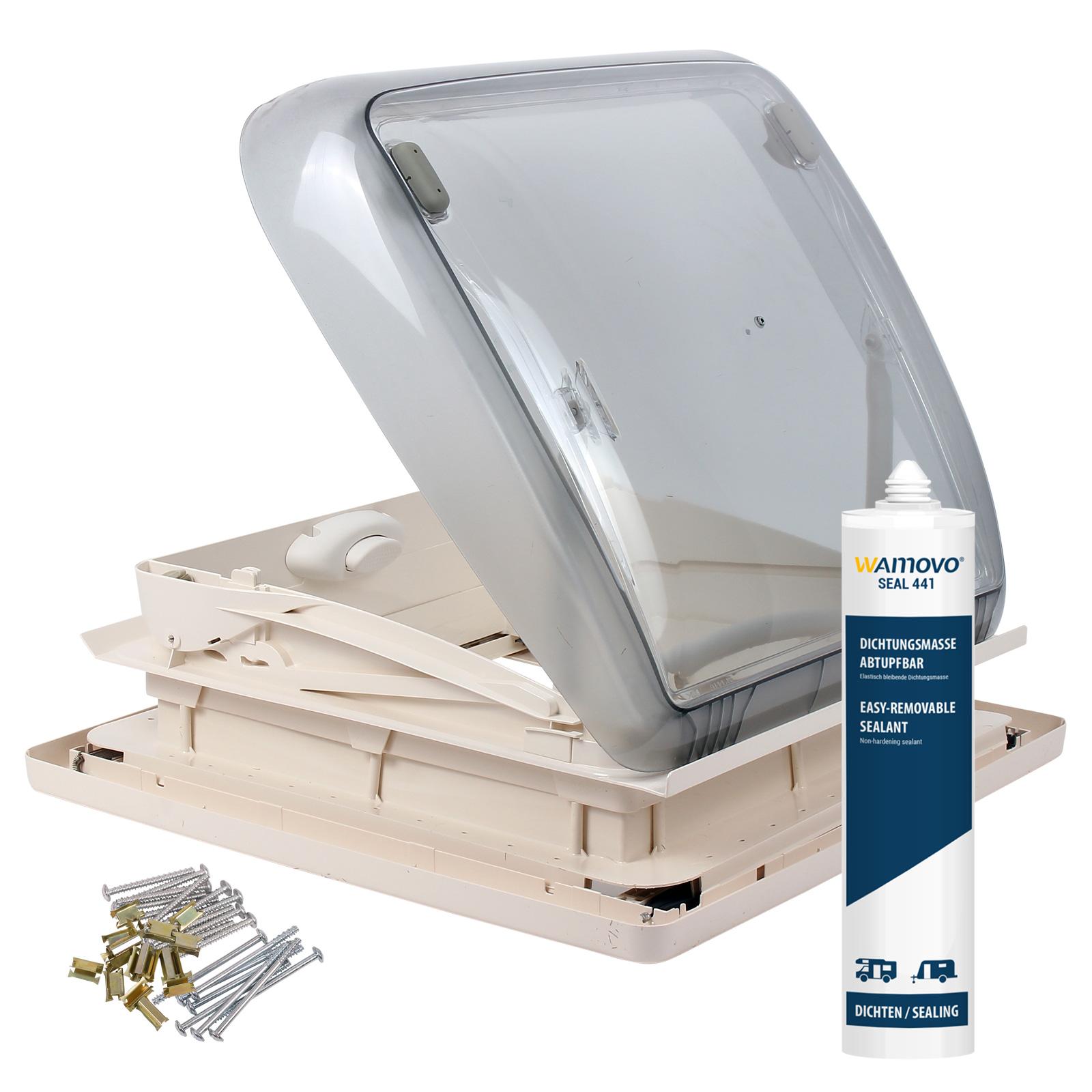 Dometic Mini Heki 40 x 40 Dachstärke 25 - 45 mm Zwangsbelüftung + Dichtmittel