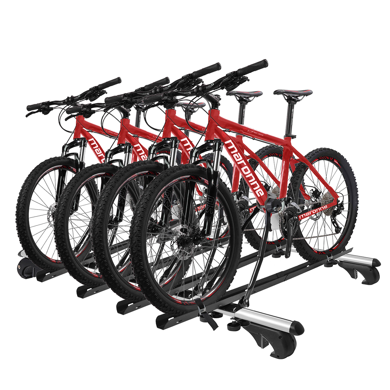 4x Fahrradträger Dachträger mit Rahmenbefestigung abschließbar inkl Befestigung