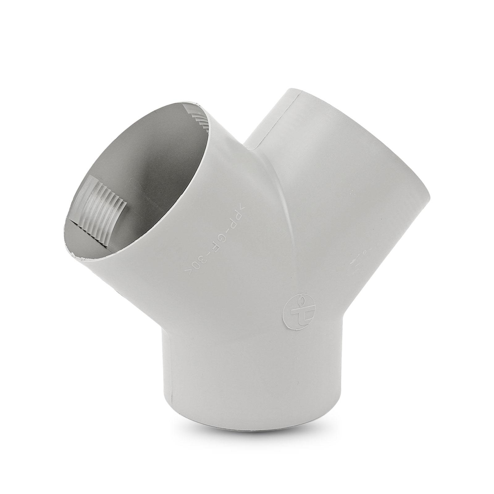 Y Stück für Warmluftrohre Truma Grau für 65 mm TS Y-Stück