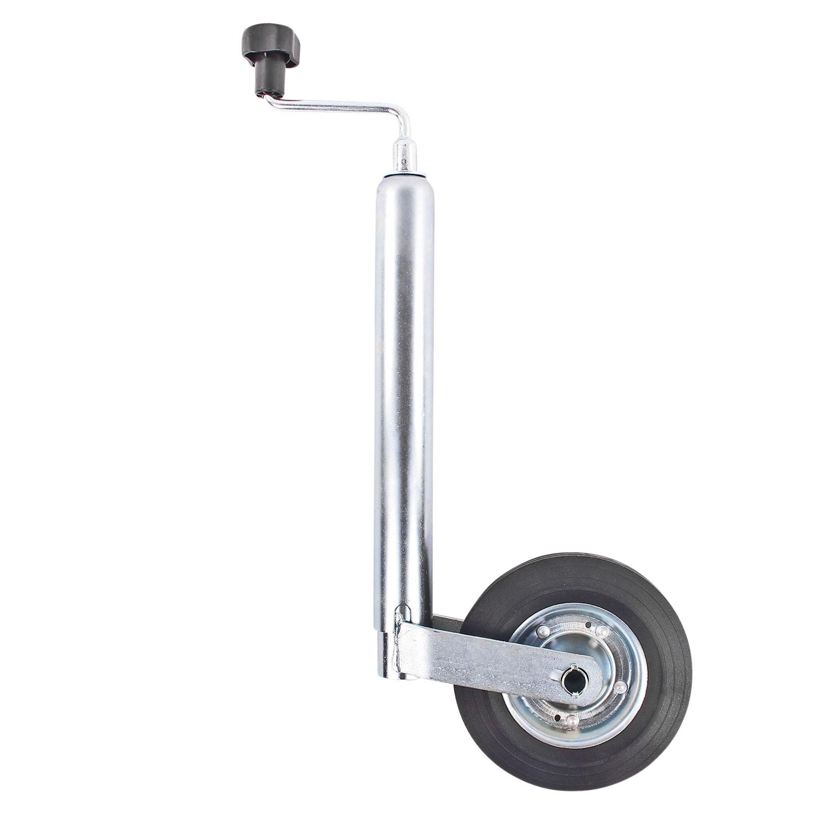 Stützrad Anhänger 48 mm Vollgummirad Metallfelge Stützlast statisch 150 Kg