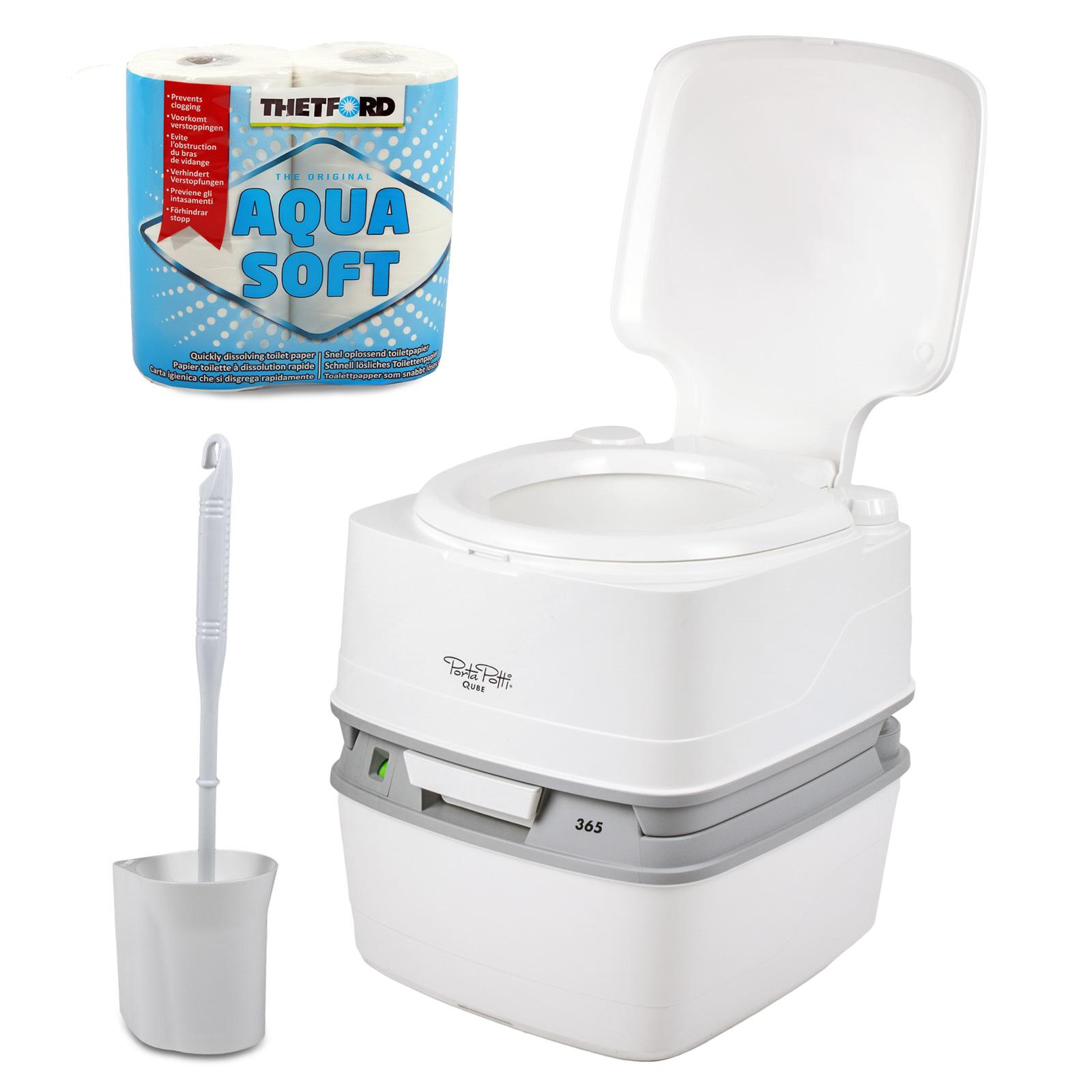 Porta Potti Qube 365 + Chemie + Fiamma Toilettenbürste + Aquasoft