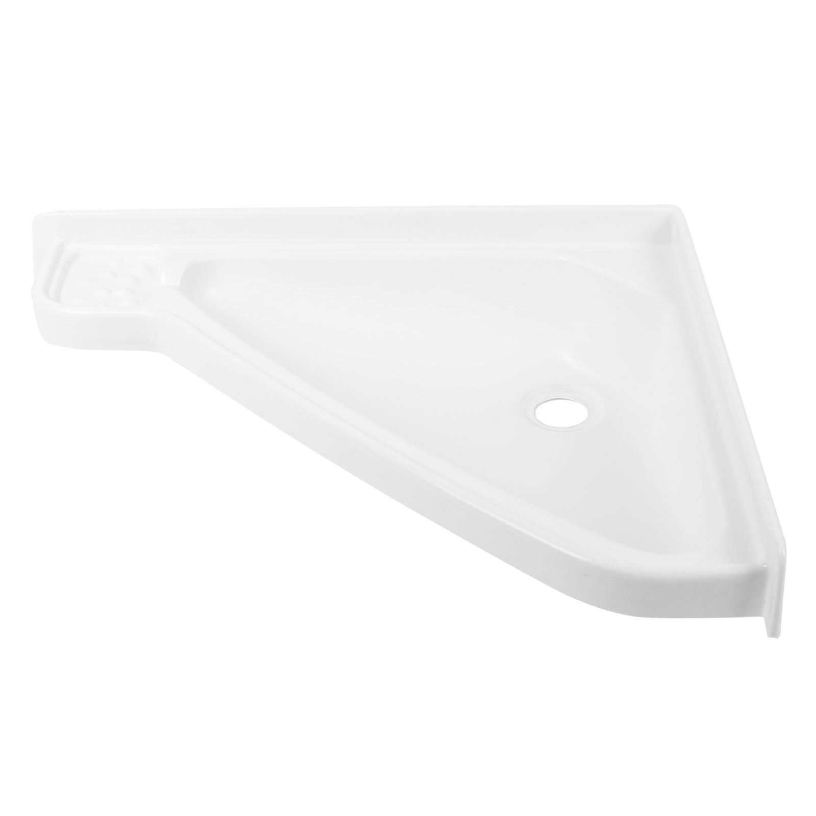 Eckwaschbecken klein 41,5 x 35 x 60 cm, Kunststoff, weiß