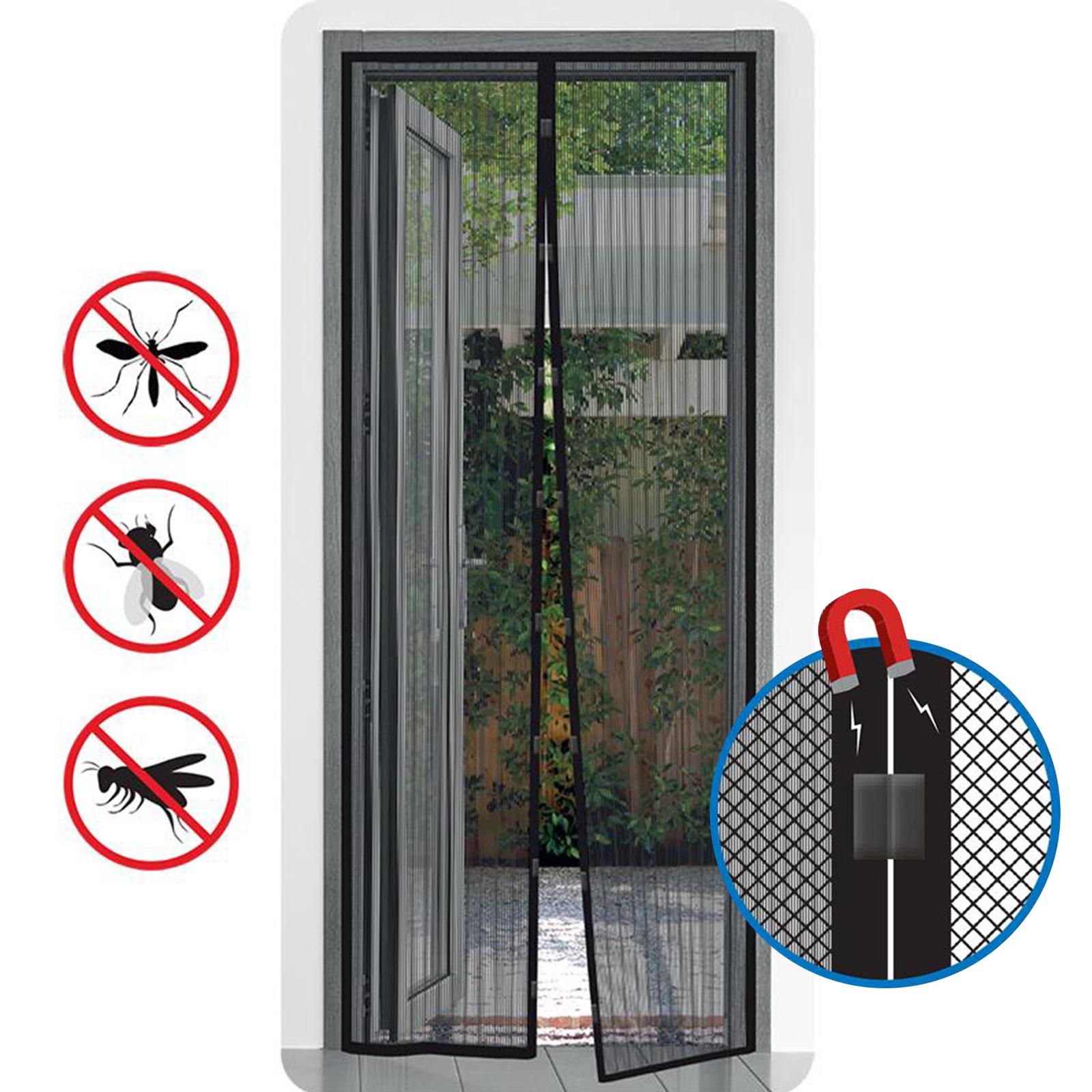 Insektenschutz Tür mit Magnetverschluss 210x100 cm Klettbefestigung