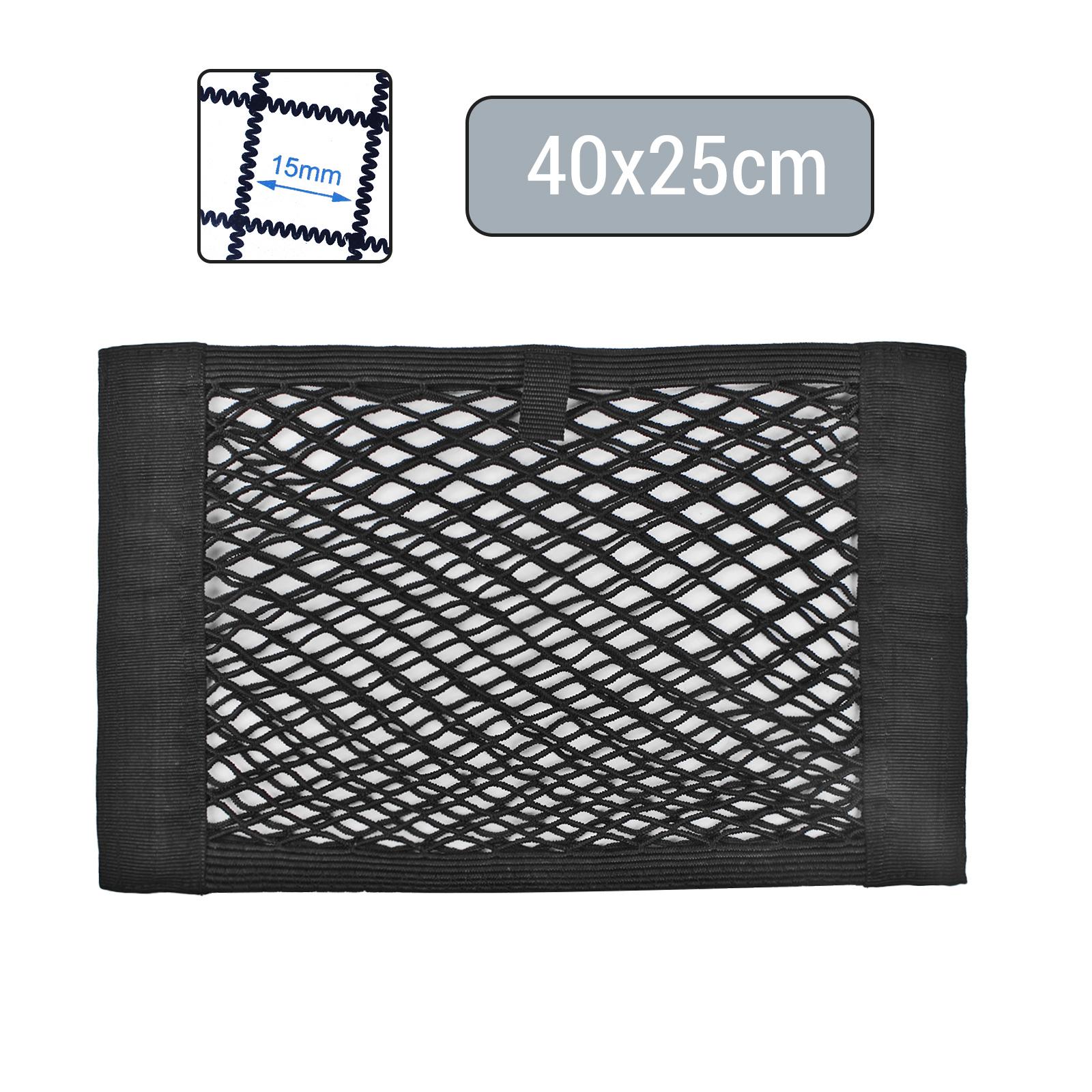 Kofferraumnetz Ablagenetz elastisch 40x25cm Klettbefestigung doppel Netz