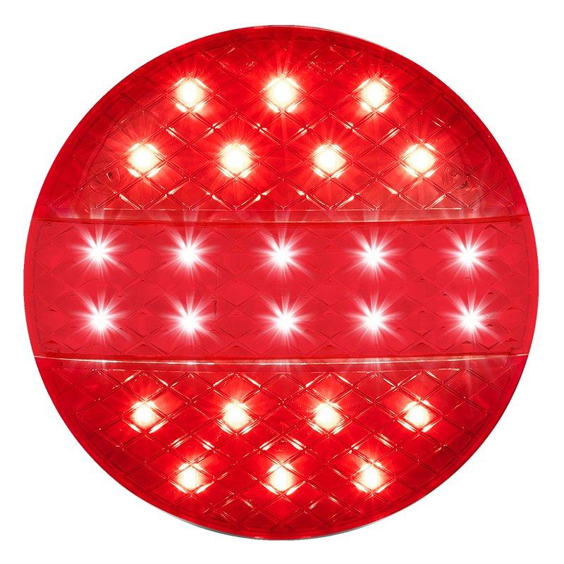 Rückleuchte 12/24V 3 Funktionen 140mm STF LED Anhänger Trailer LED-Leuchte