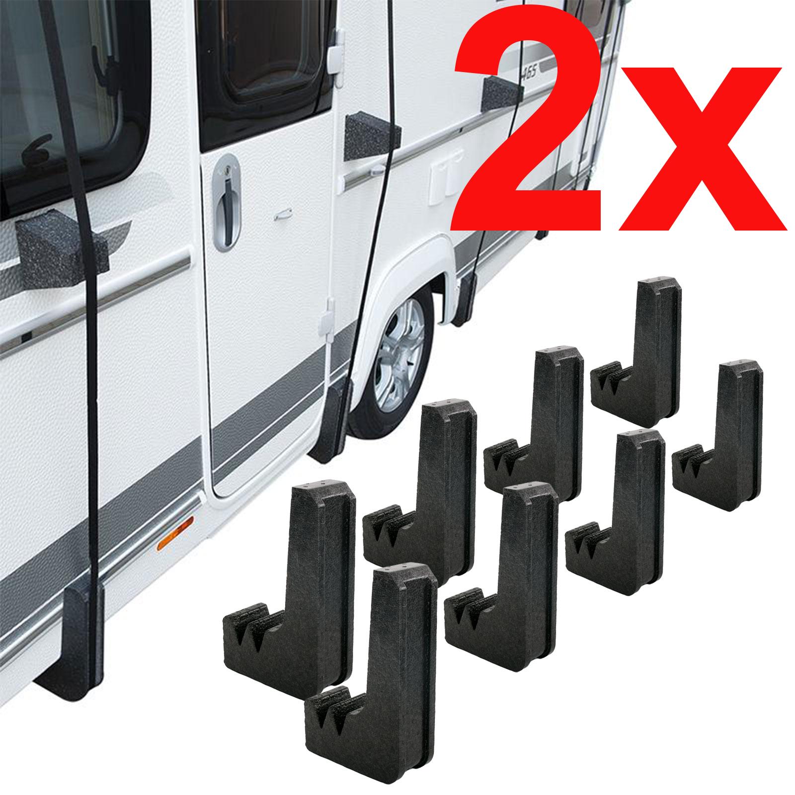 16 x Schutzecken für Wohnwagen, Wohnmobil Schutzdächer Spezial Styropor