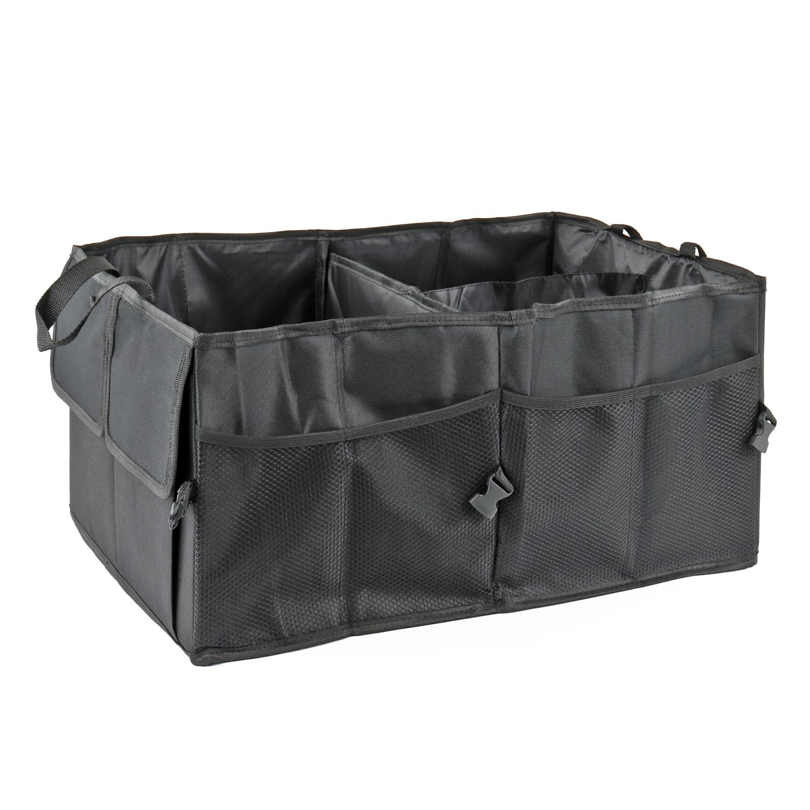 Kofferraum Organizer, Polyestergewebe, 52 x 38 x 26 cm, schwarz