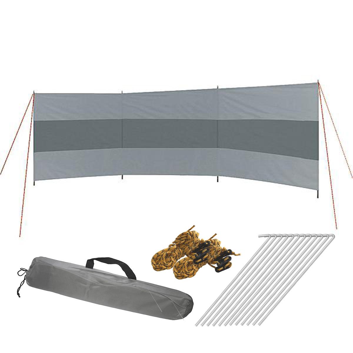 Windschutz Popular | 3 Teile | Campingsichtschutz mit Stangen
