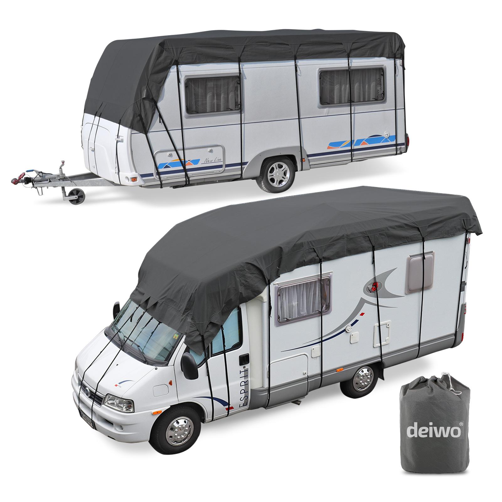 Wohnwagen & Wohnmobil Schutzdach 6 x 3 Meter 4 Schichten 160g Winter geeignet