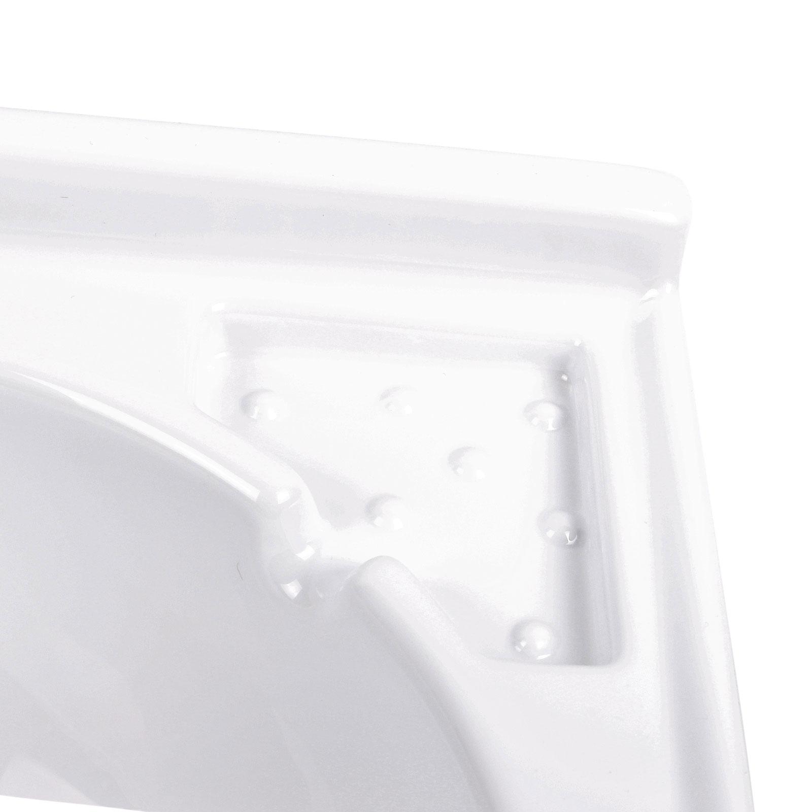 Eckwaschbecken 42 x 42 x 15 cm   ABS-Kunststoff   650 g   weiß