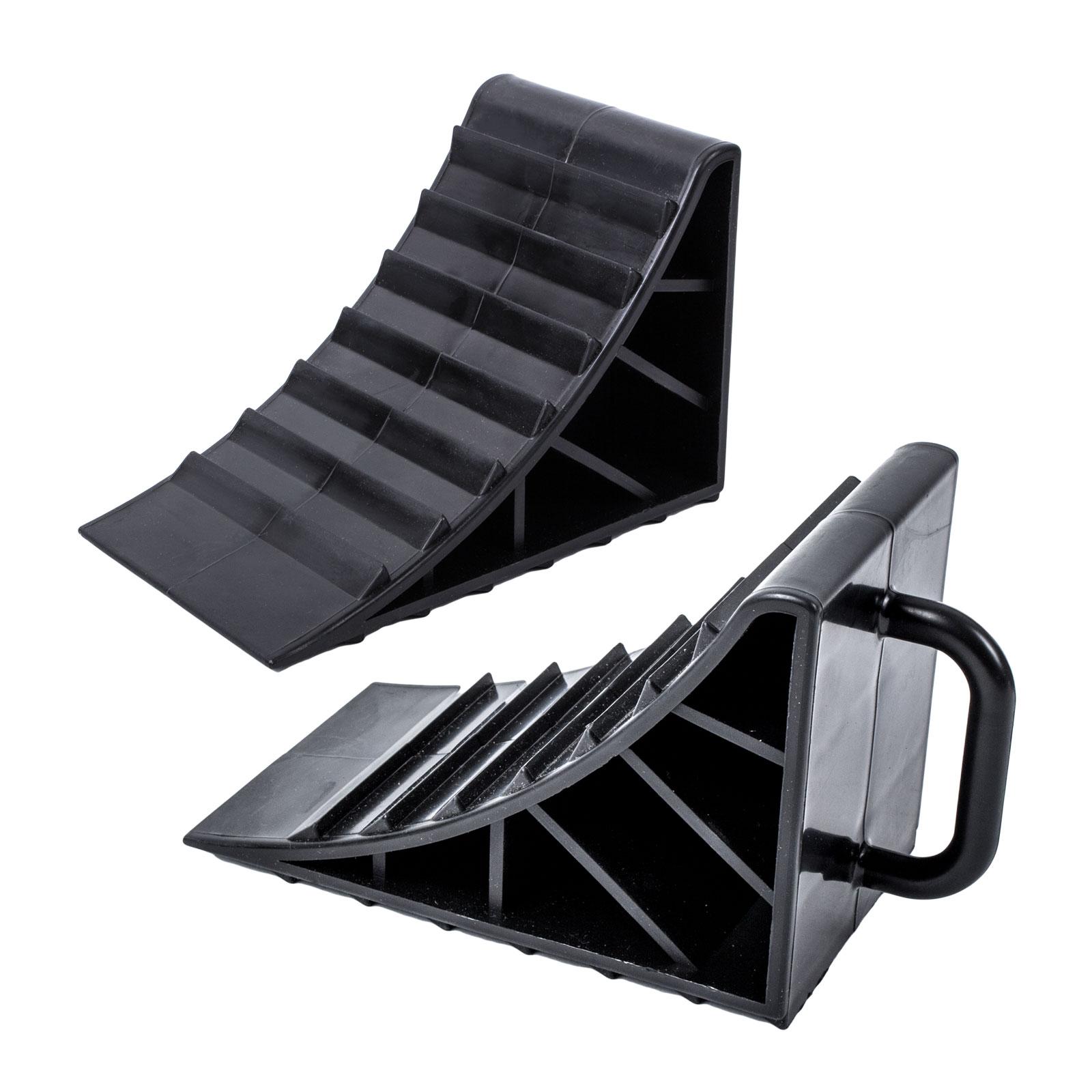 Unterlegkeil Kunststoff schwarz 2er Set mit Griff