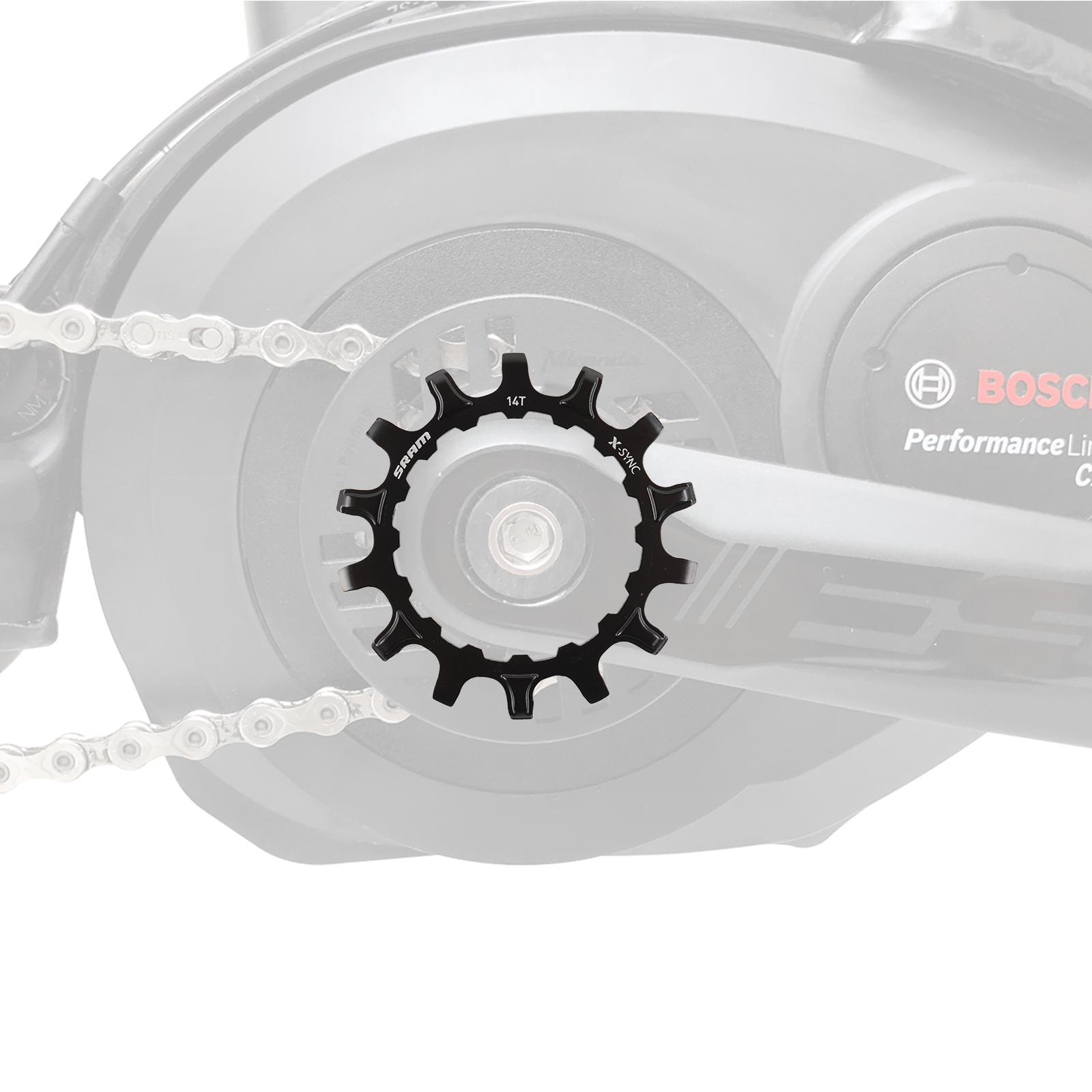 SRAM Kettenblatt 14T EX1 X-Sync™ für Bosch Mittelmotor eBike