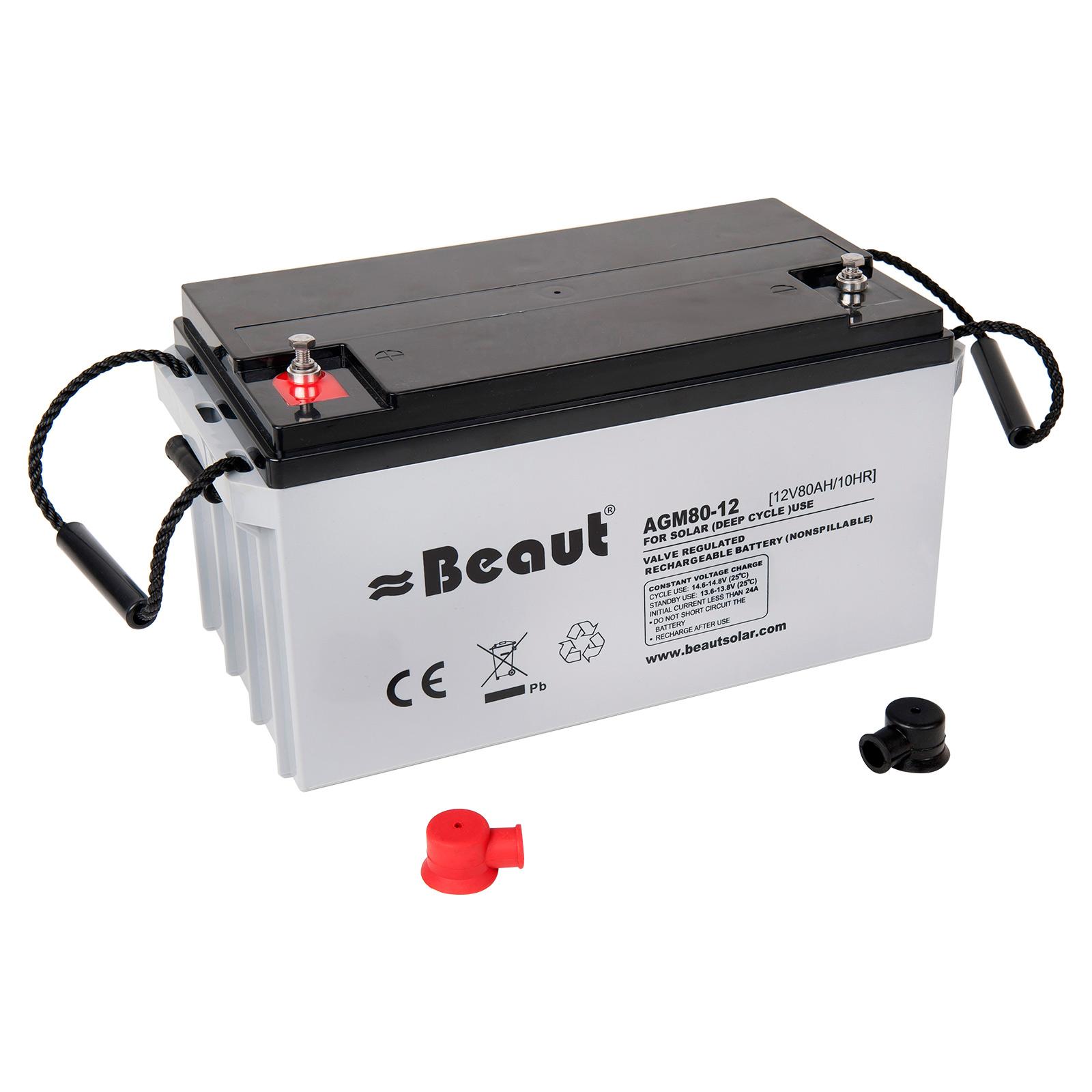 Solar Batterie Beaut 80 A 12 Volt AGM 350x167x180 mm