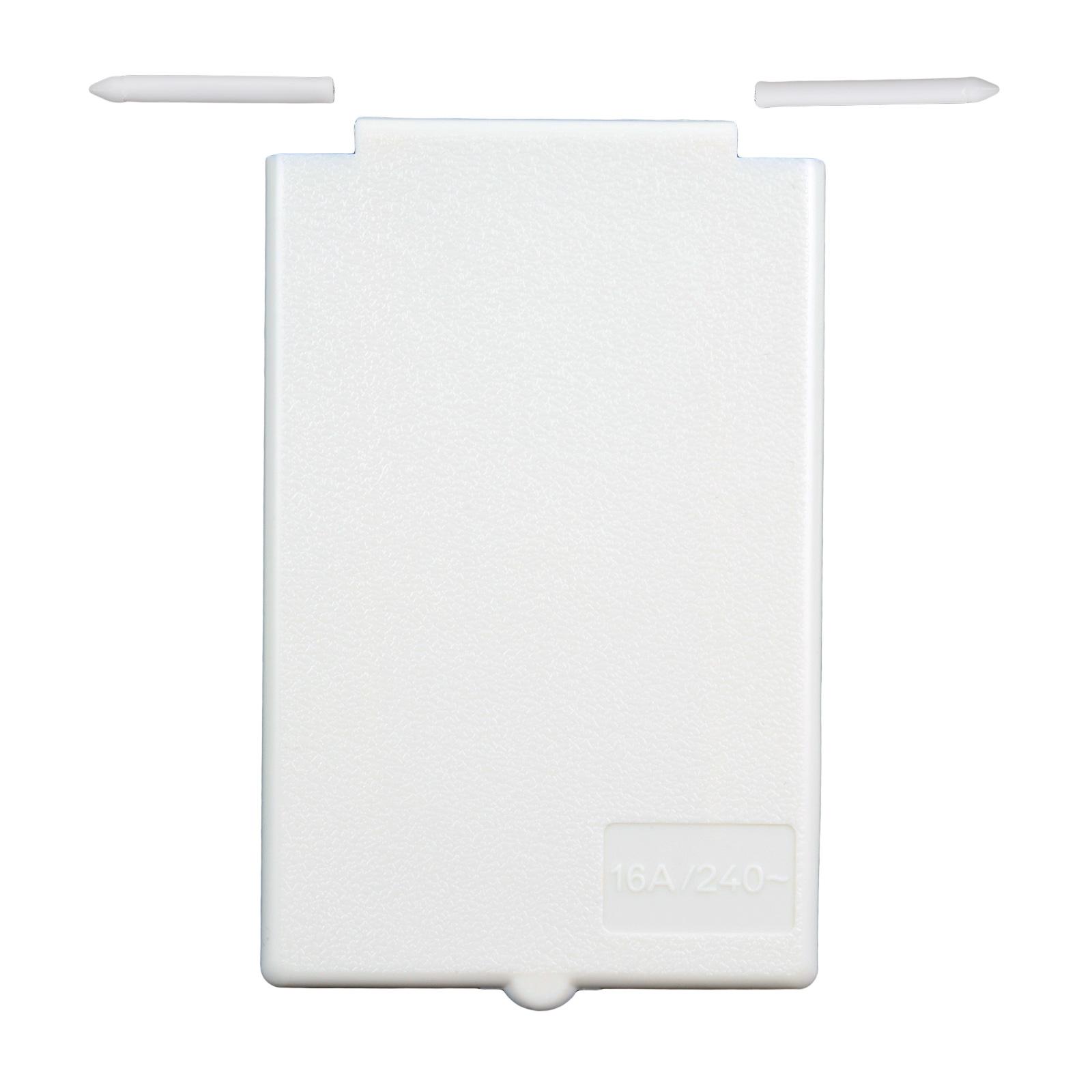Deckel für CEE Aussensteckdosen   weiß   Spritzwasser geschützt   Ersatzdeckel