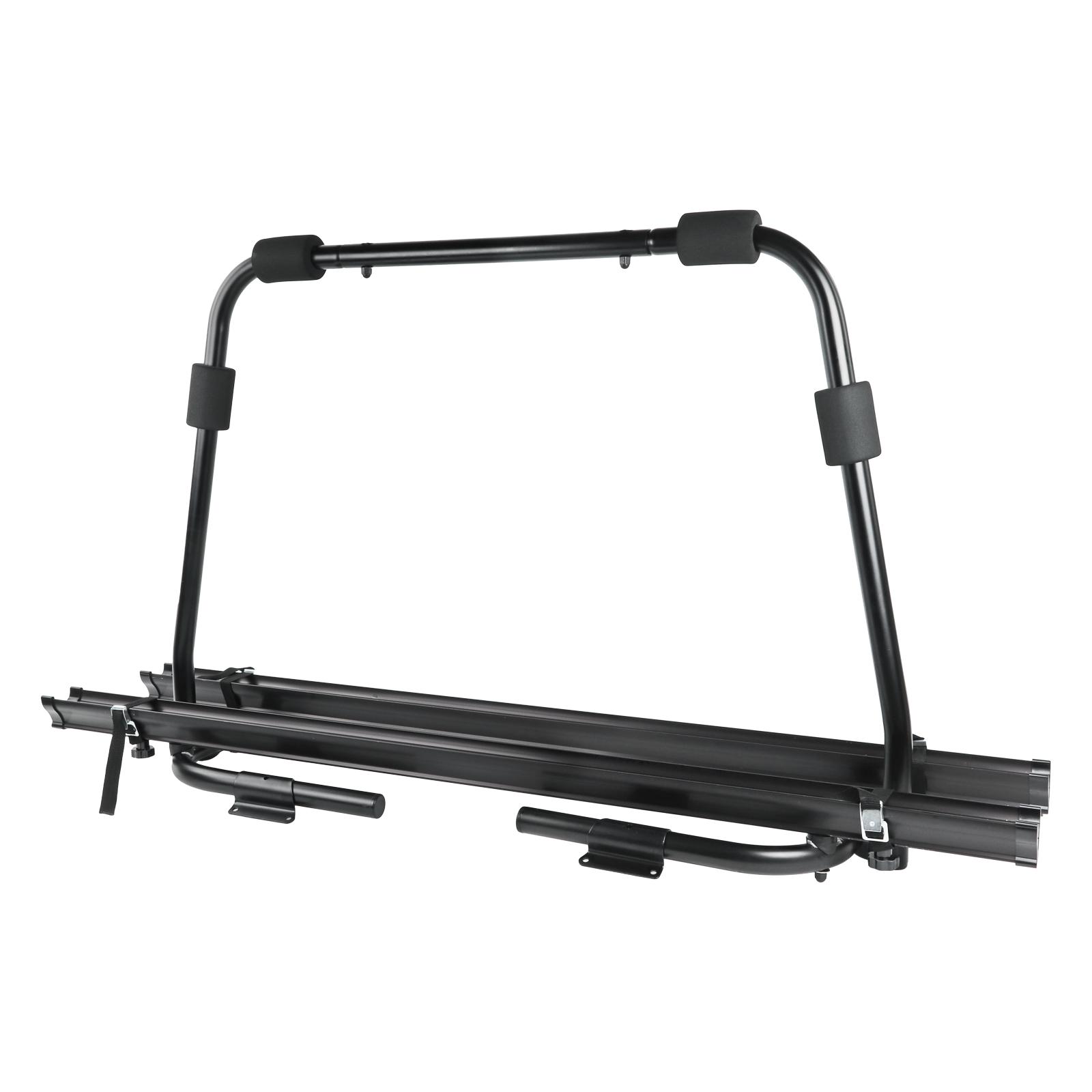 Deichsel Fahrradträger Wohnwagen 2 Fahrräder belastbar bis 40kg klappbar Schwarz
