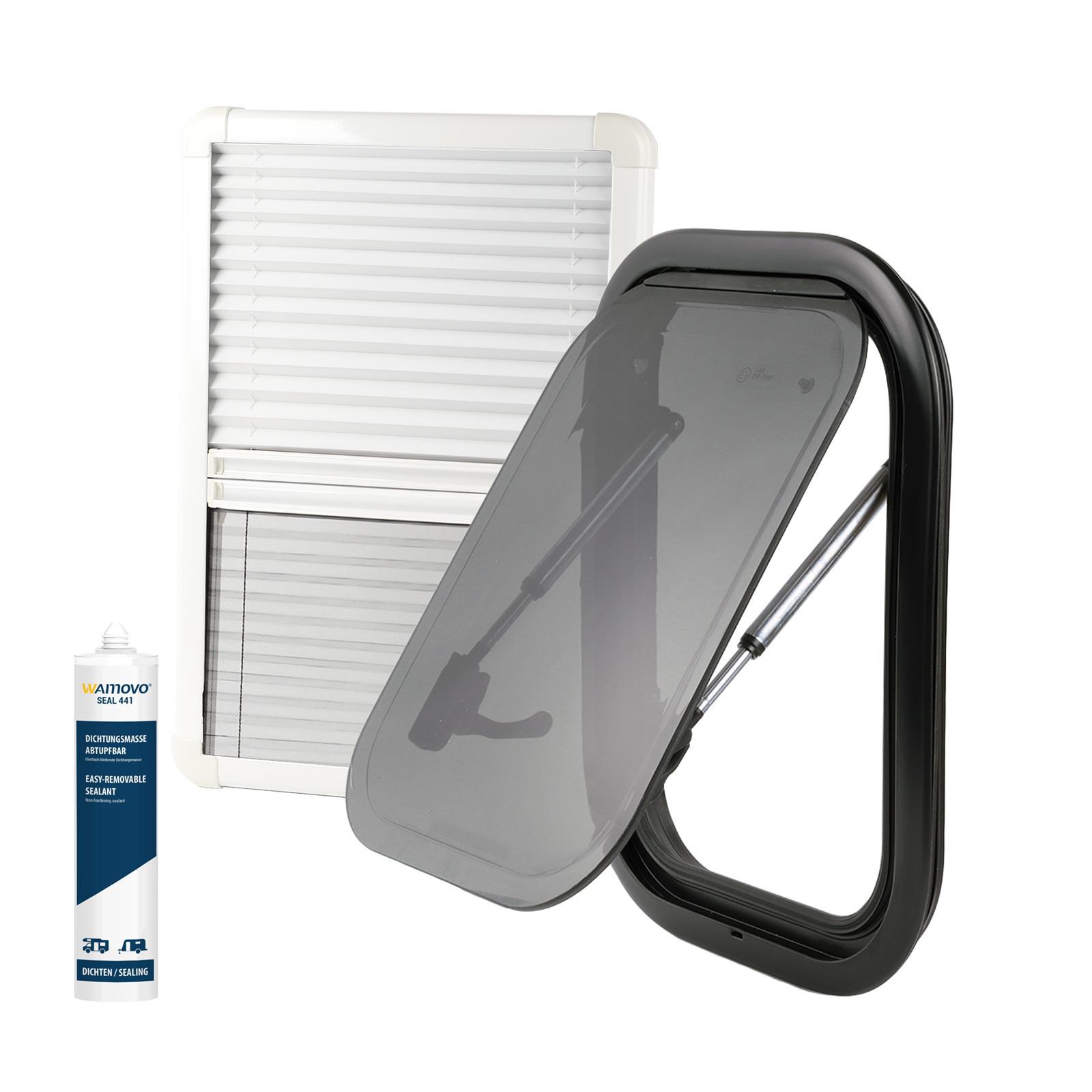 Set Ausstellfenster RW Van 280 x 380 inkl. Verdunklung und Insektenschutz