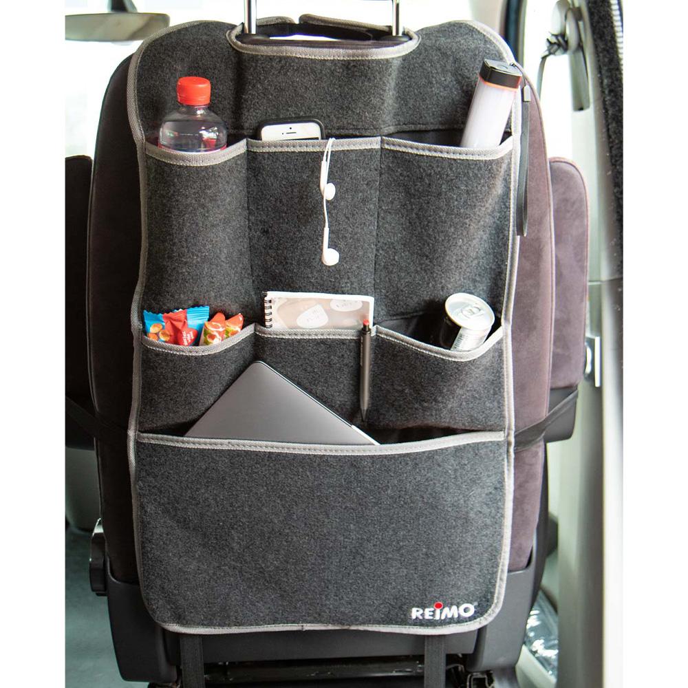Sitz-Organizer Fahrer oder Beifahrersitz Filz anthrazit passend für VW T5 T6