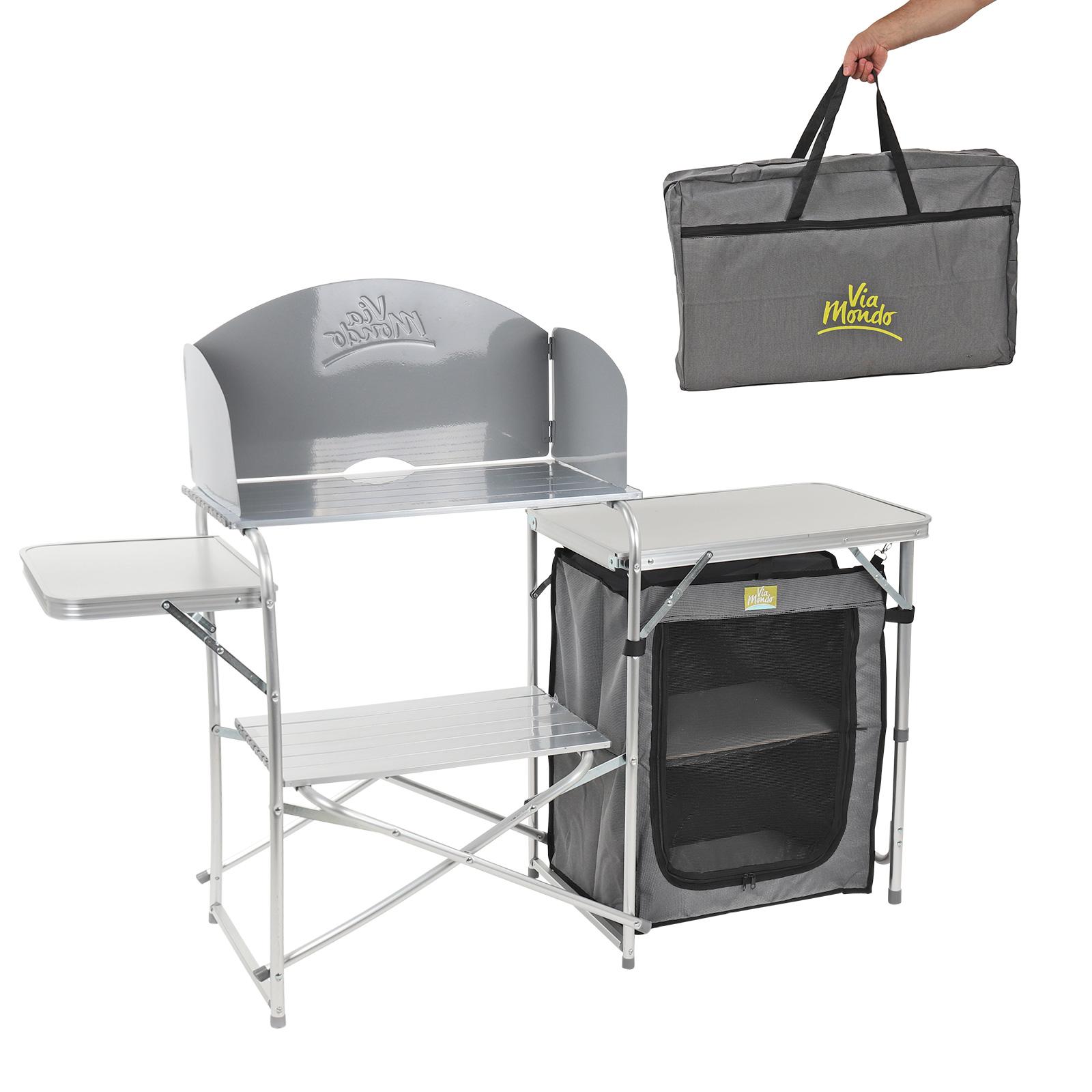 """Camping Küche """"Maxi"""" klappbar, in Transporttasche, Windschutz, 30 Kg belastbar"""