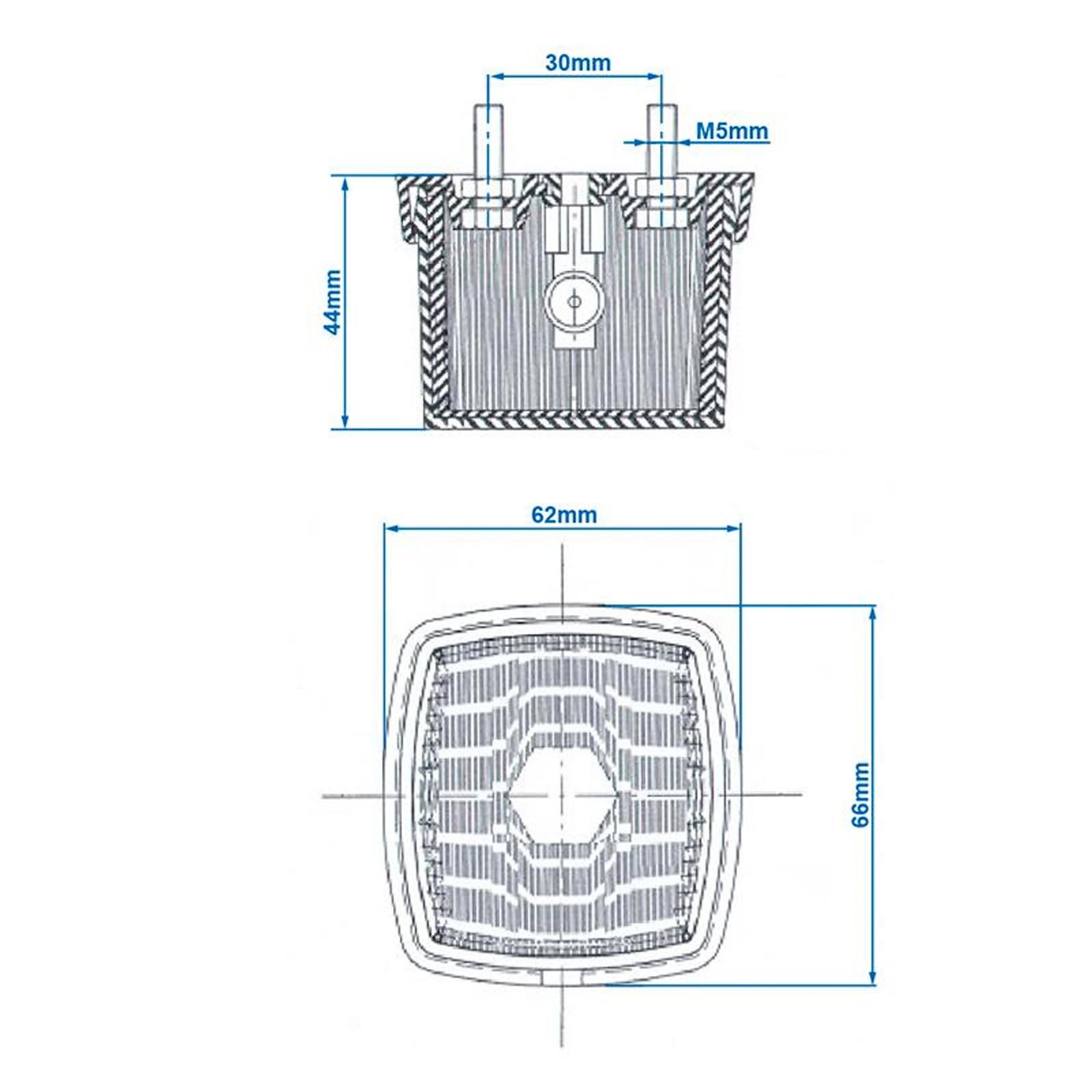 2x Positionsleuchte weiß inkl Befestigungsmaterial & Leuchtmittel