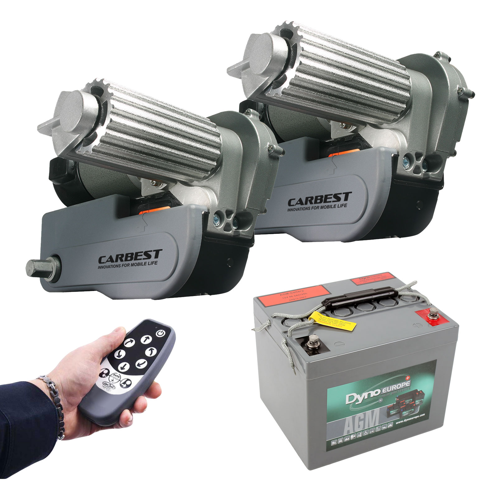Cara-Move automatische Rangierhilfe, Batterie, Ladegerät 2250Kg