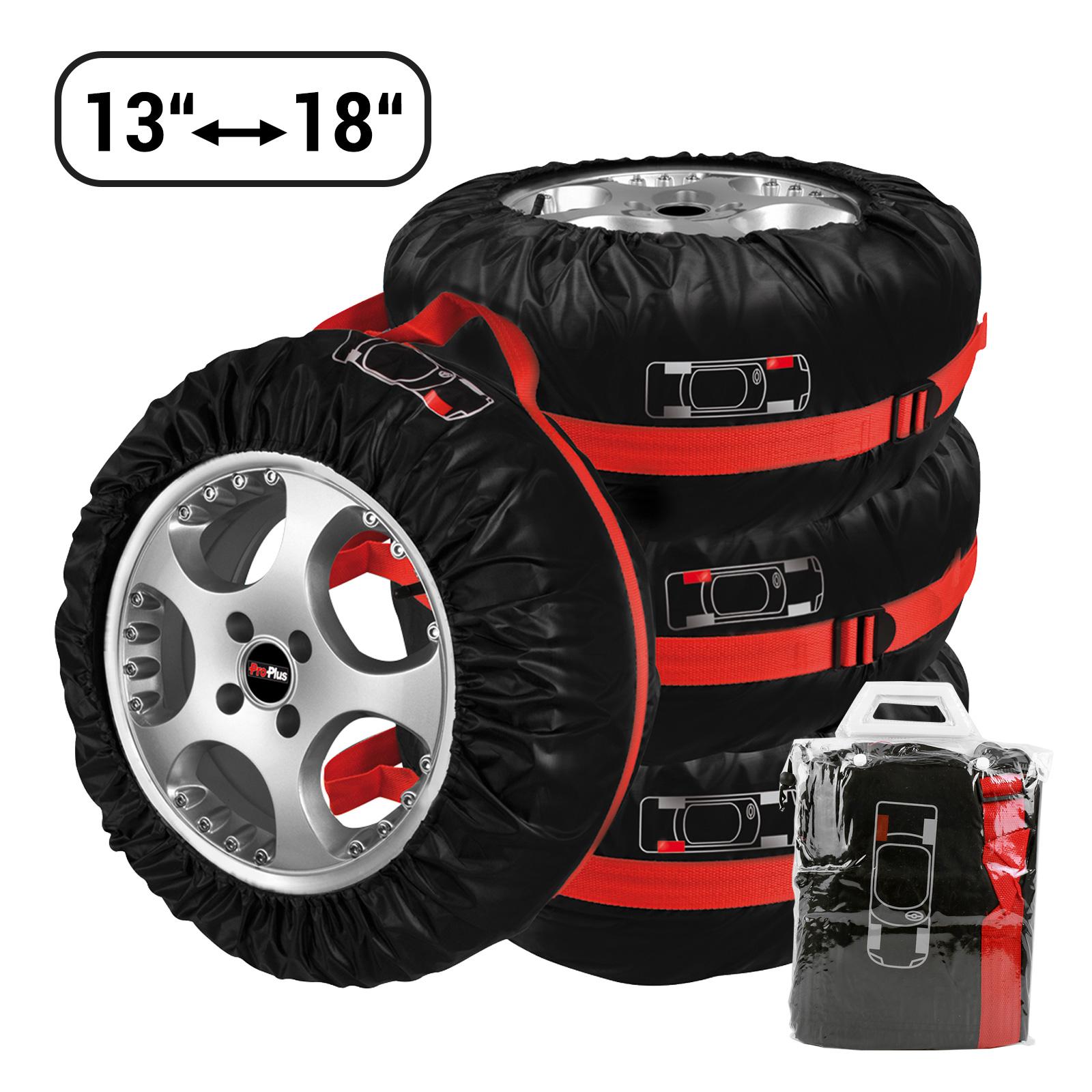 """4er Set Reifen Hüllen Taschen Tragegriff Nylon max 18""""; 20 Kg pro Rad"""