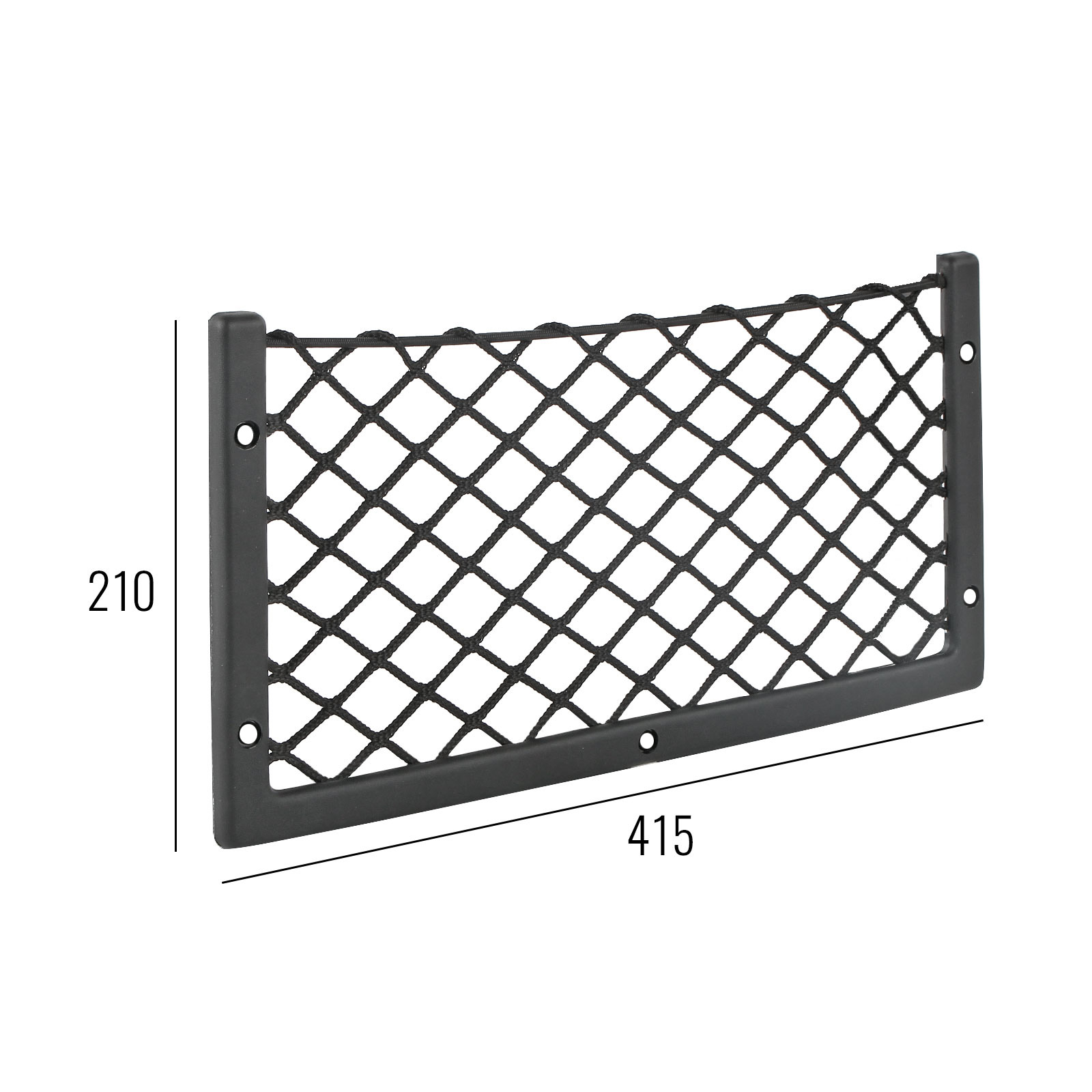Netzablagefach Nylonnetz mit Gummizug L 415x210 mm