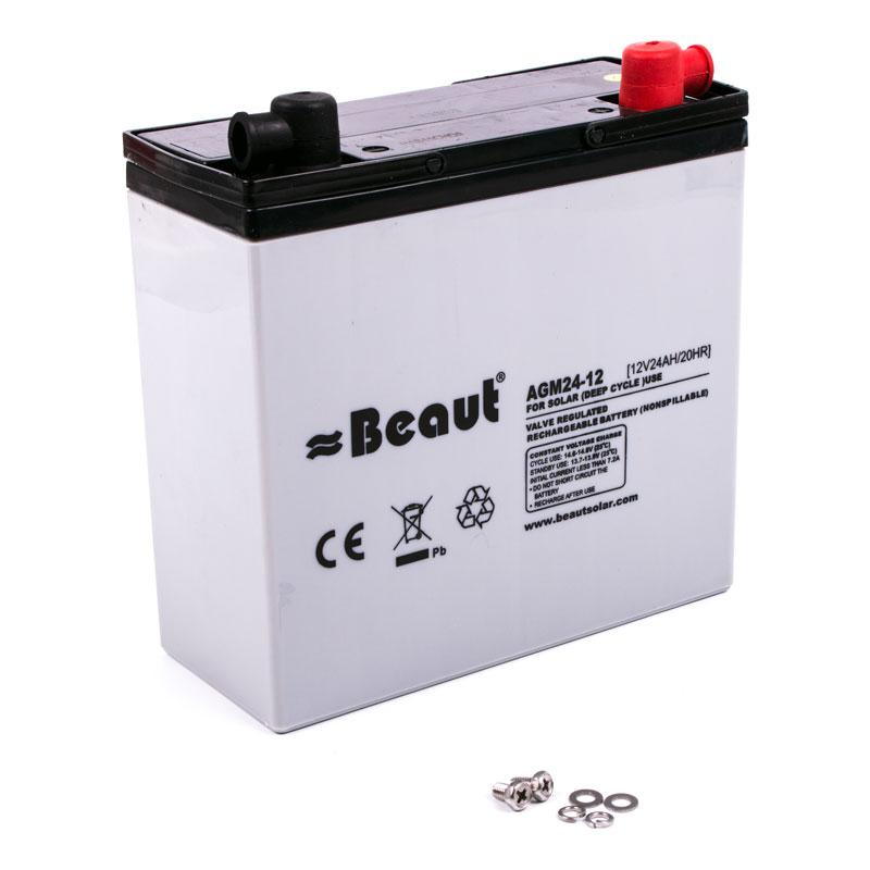 Solar Batterie Beaut 24 A 12 Volt AGM 181 x 77 x 170 mm
