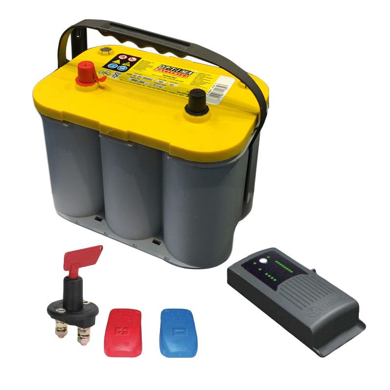 Truma Mover Batterie Set Optima  YTS 55Ah + Truma BC10 + Trennschalter