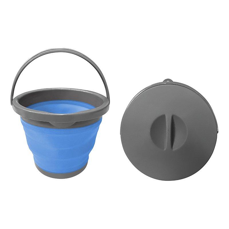 Falteimer rund | faltbar | 5 Liter | Wassereimer | mit Deckel | Spüleimer