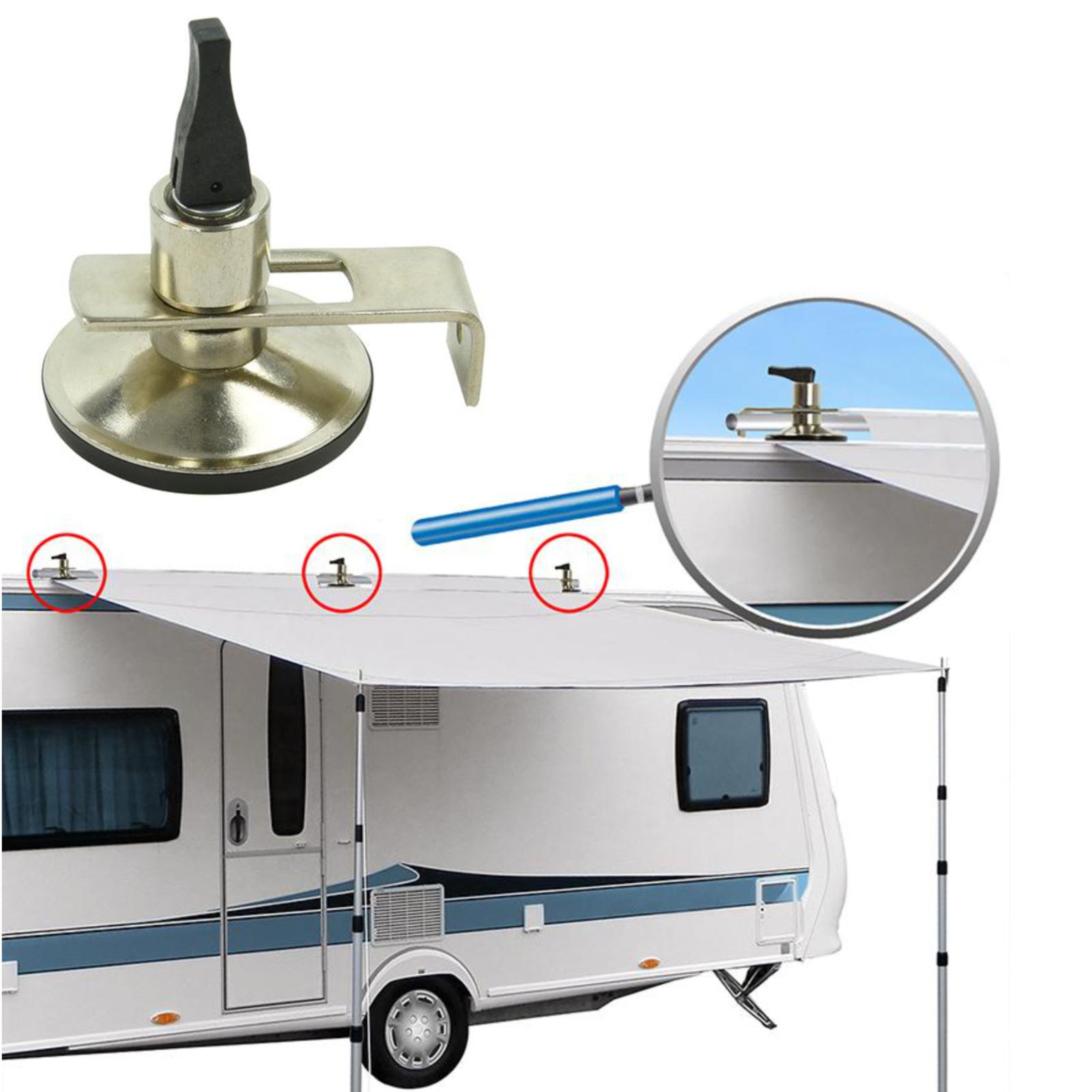 3x Klappsauger Schleusenstab | Camping Bus | Vorzelt | Sonnensegel | Saugnapf