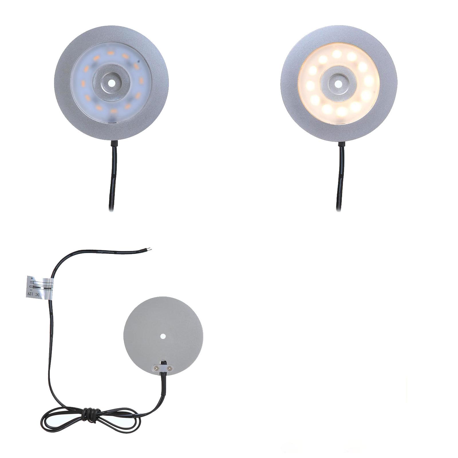 Aufbauspot 12 LED 240l, 12V-3,4W, Ø55x5,0mm