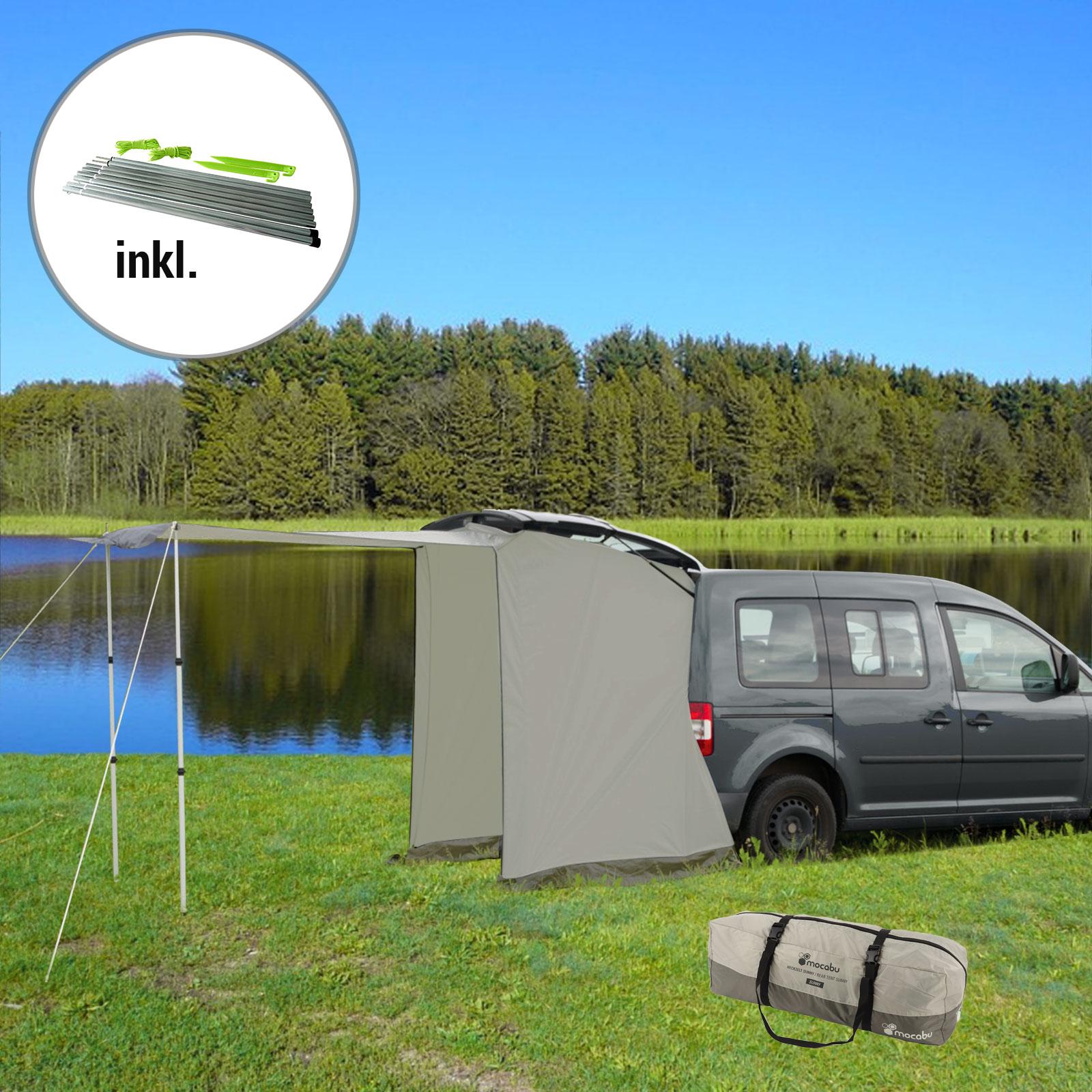 Heckzelt Sunny für Minicamper 135 x 100 cm inkl. Aufstellstangen