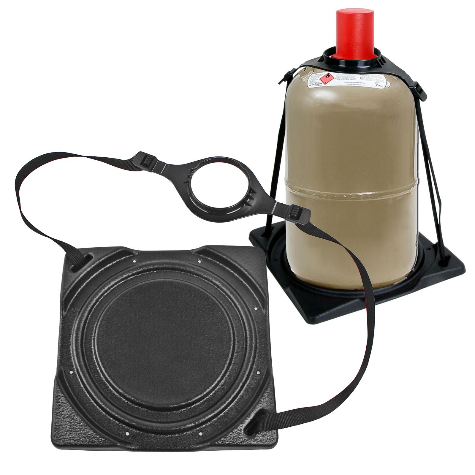 Gasflaschenhalter Froli   schwarz passend für 5 oder 11 Kg Flaschen Stahl - Alu