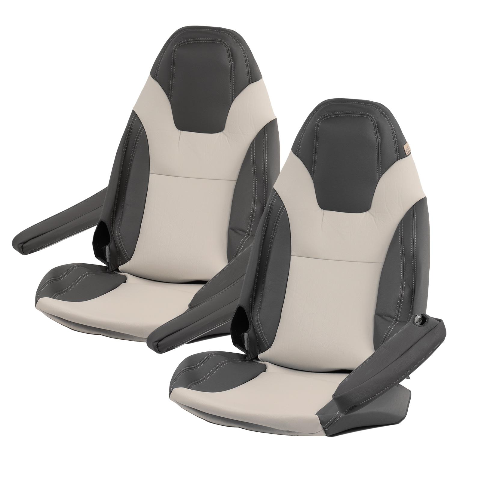 Maß Sitzbezüge | Fiat Ducato x290 | ab bj 2015 | Beige/Onyx | Kunstleder | 6tlg