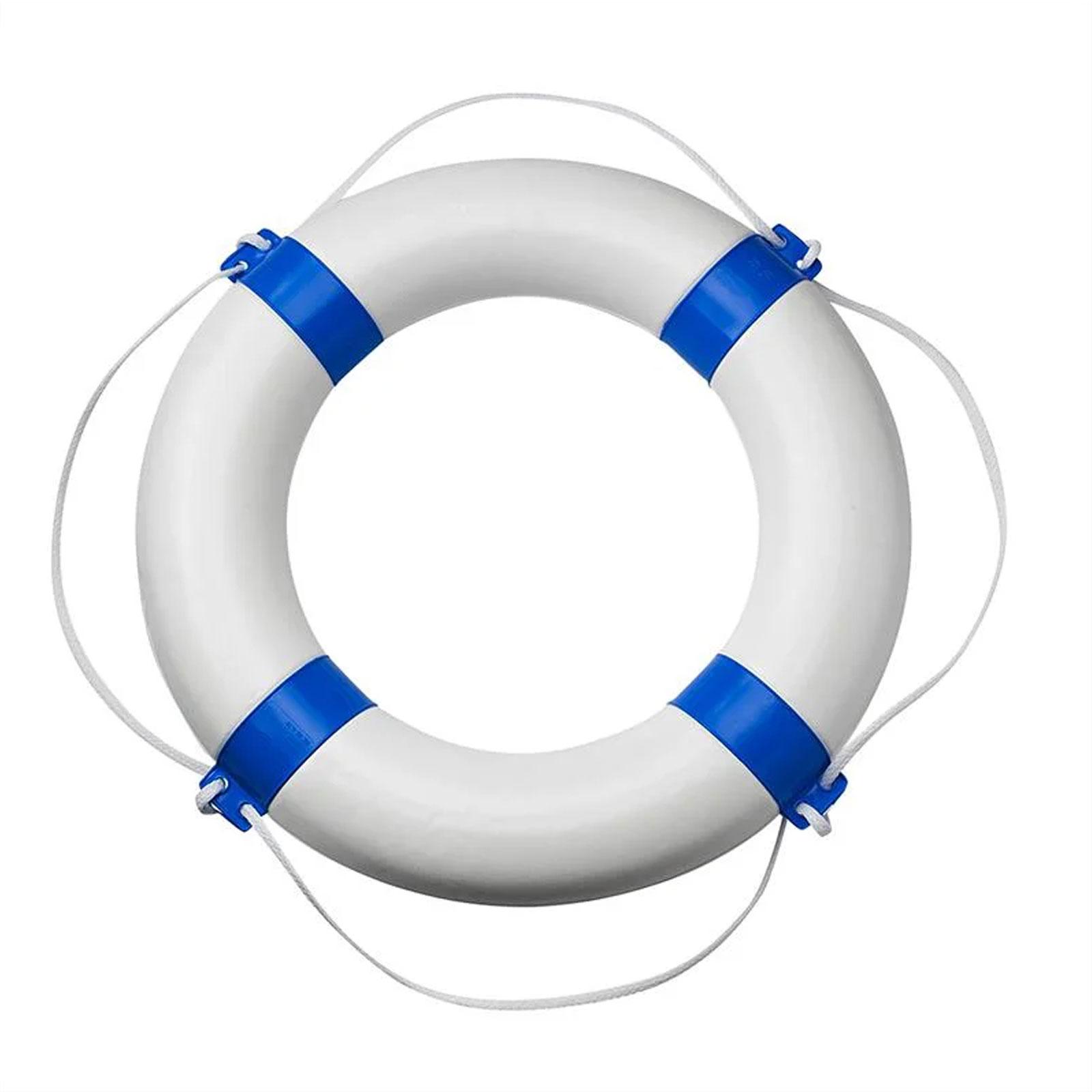 Bootsring Bootsdeko Schiffsdeko Deko für Yacht Ø600mm weiß/blau