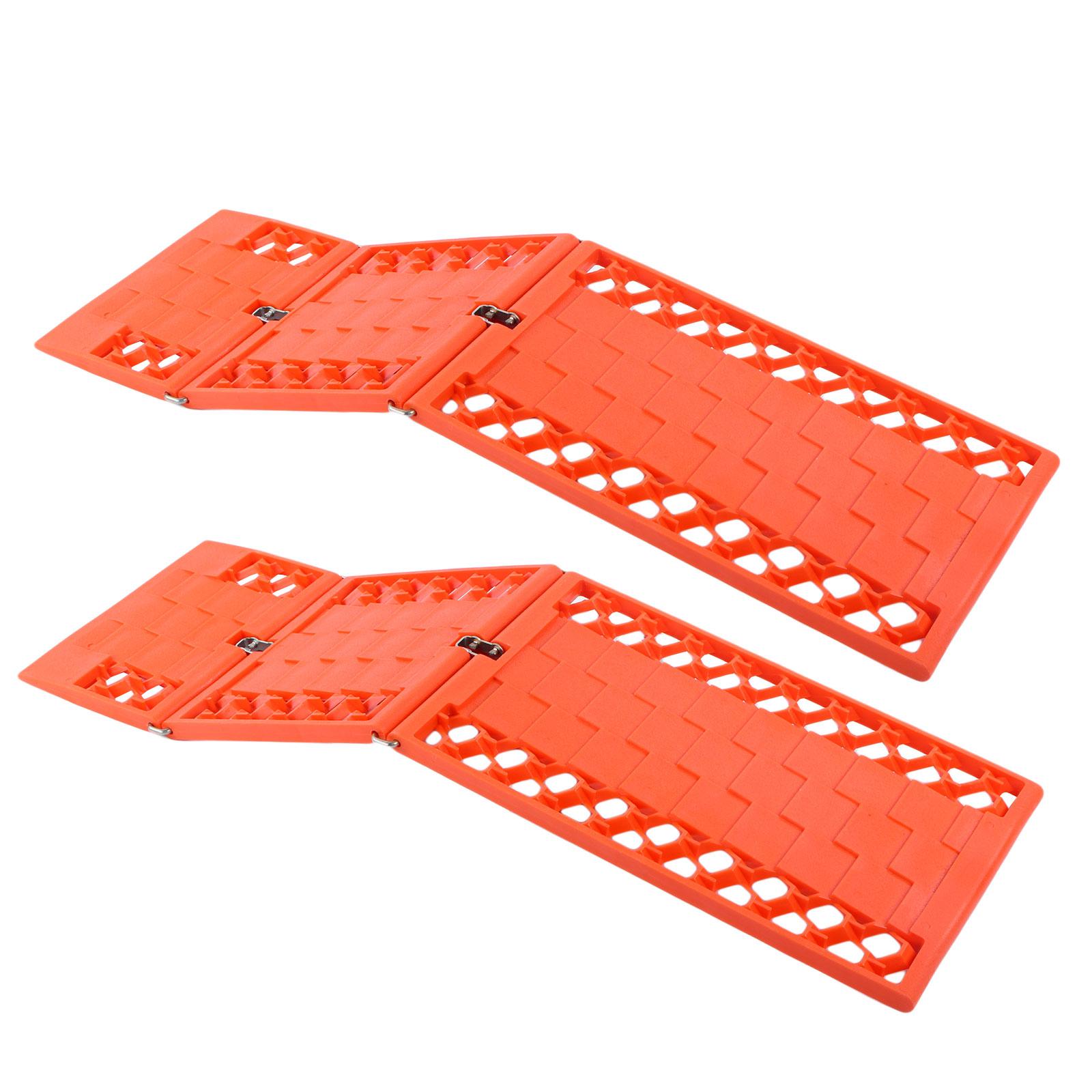 Gripmatte, Anfahrhilfe Set 2 Stück Orange klappbar 590 x 175 mm