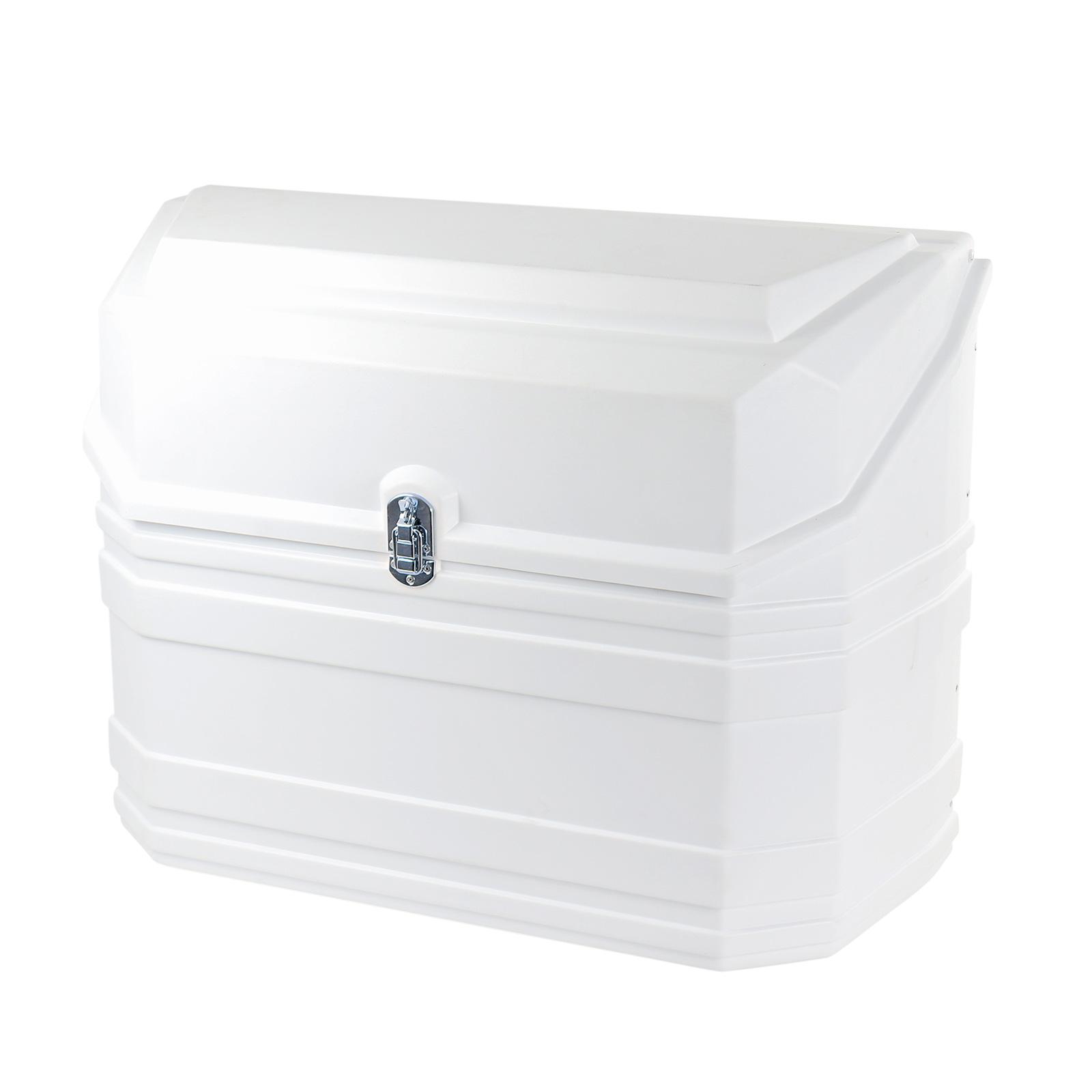 Gasflaschenkasten für 2 Gasflaschen 11 Kg | gerade Rückwand | Weiß