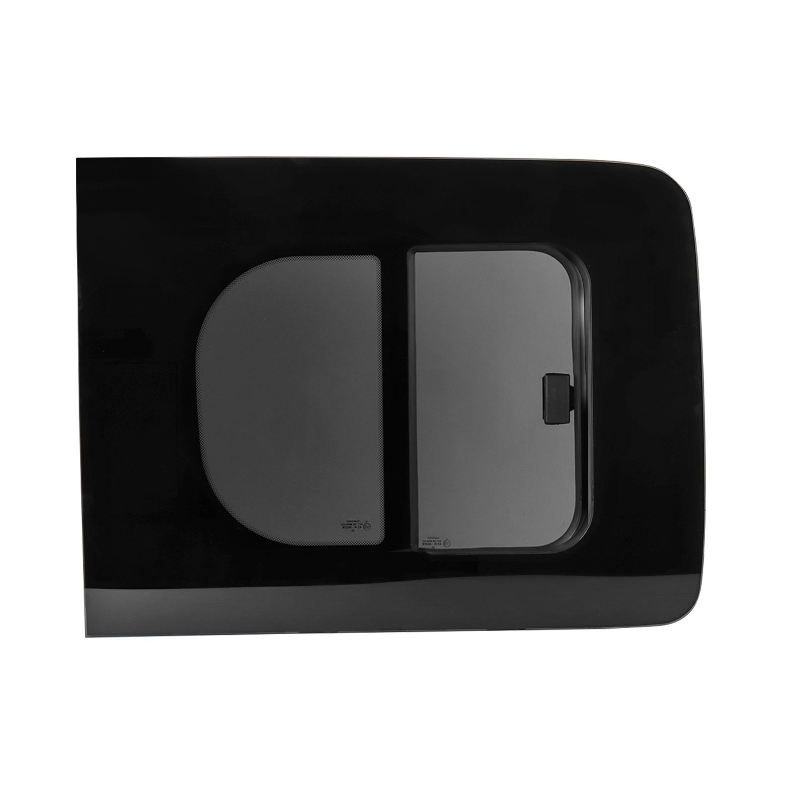 Schiebefenster rechts Glasfenster für Caddy ab Bj 08 Echtglas ca. 70,4 x 54,5 cm