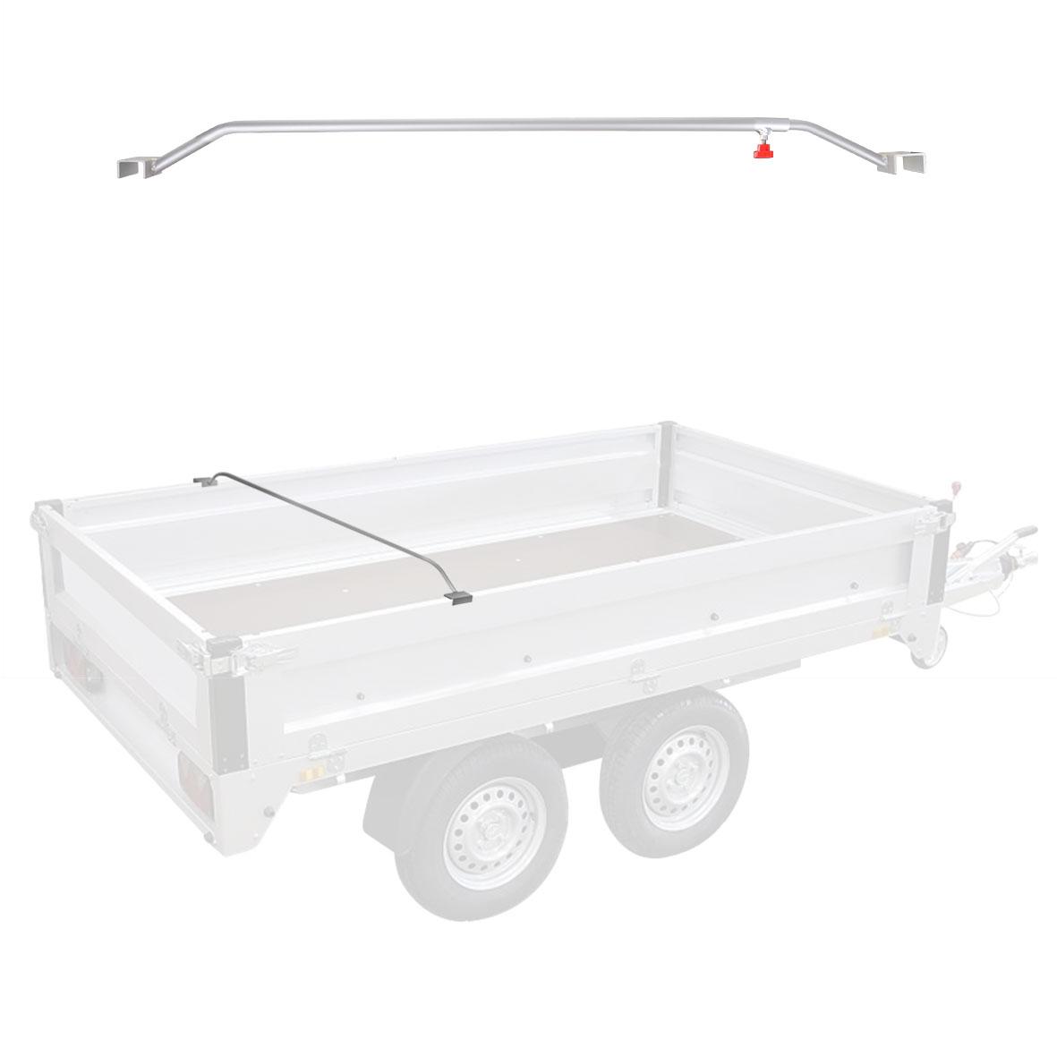 Anhänger Flachplanenbügel Aluminium verstellbar 132 - 204 cm Knaufschraube