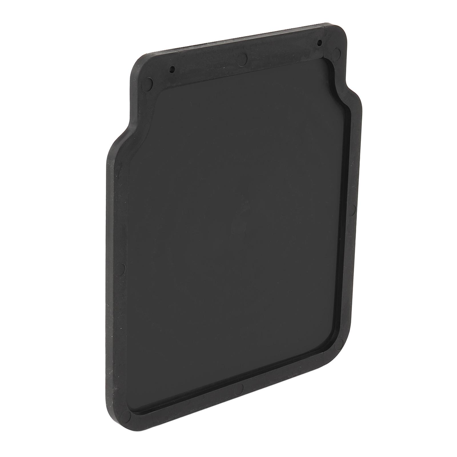 1x Schmutzfänger universal Gummi 23x20cm schwarz für Anhänger, Wohnwagen, Pkw