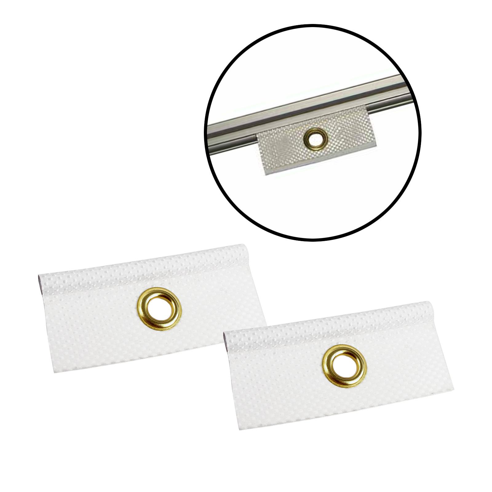 2er Set Kederöse weiß 7,5 mm für Kederschiene Wohnwagen & Wohnmobil Keder Öse