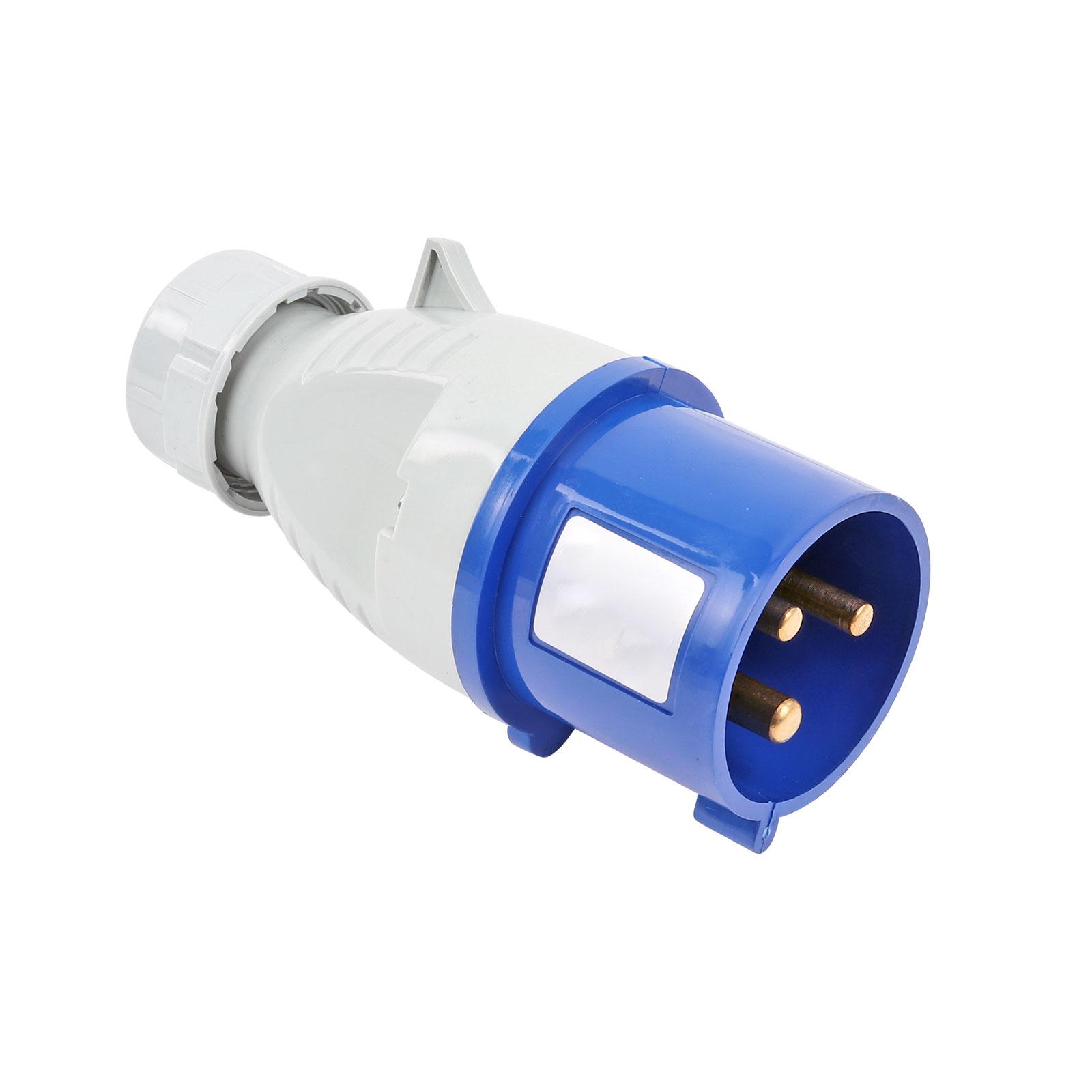 CEE Stecker | CEE 3 Polig | 240V 32A | Blau | IP44 |