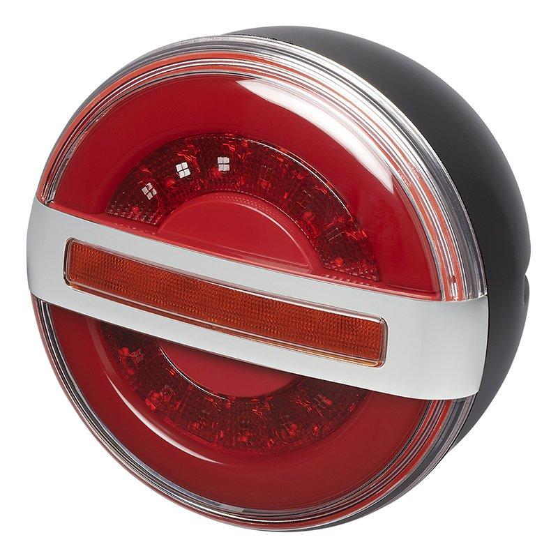 Rückleuchte 3 Funktionen 140mm LED mit dynamischem Blinklicht